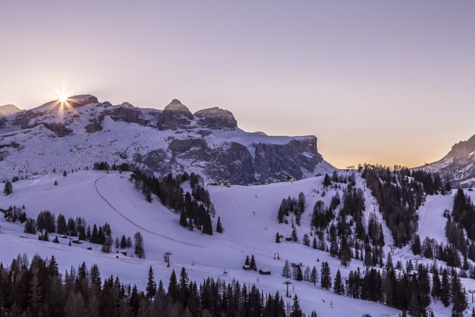 Sonntenuntergang-Dolomiten