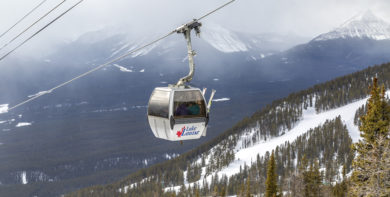 Gondola in Lake Louise