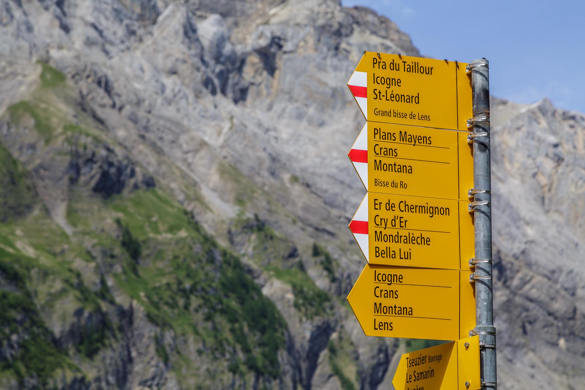 Wanderwege-Crans-Montana