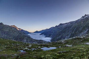 Morgenstund hat Gold im Mund: Grimselpass und Aletsch Panoramaweg