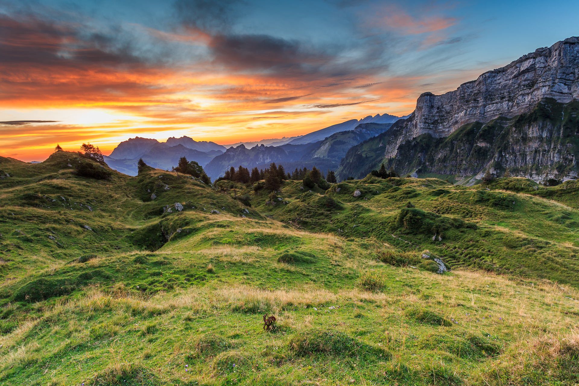 Sonnenaufgang-Mattstock