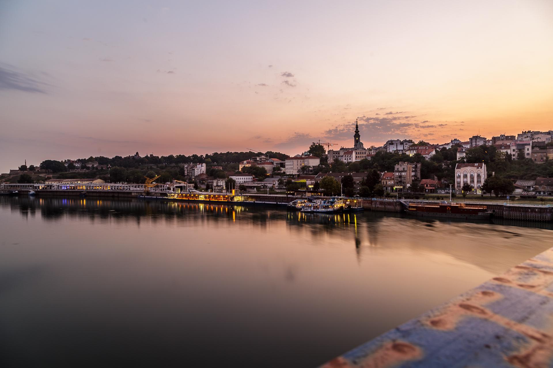 Belgrad-Sonnenaufgang