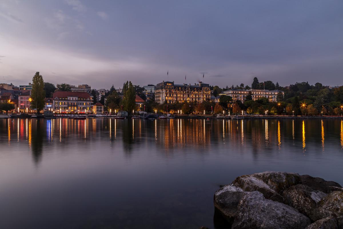 Beau-Rivage Palace – Lausanne mit Genferseeblick