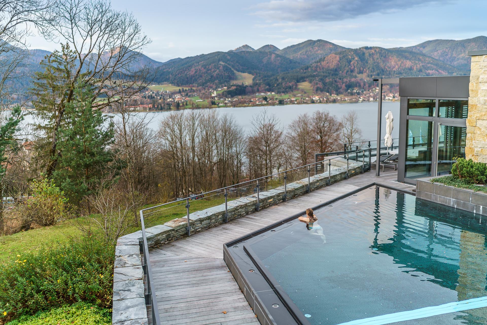 Das Tegernsee Pool ideal für ein Wellness Weekend