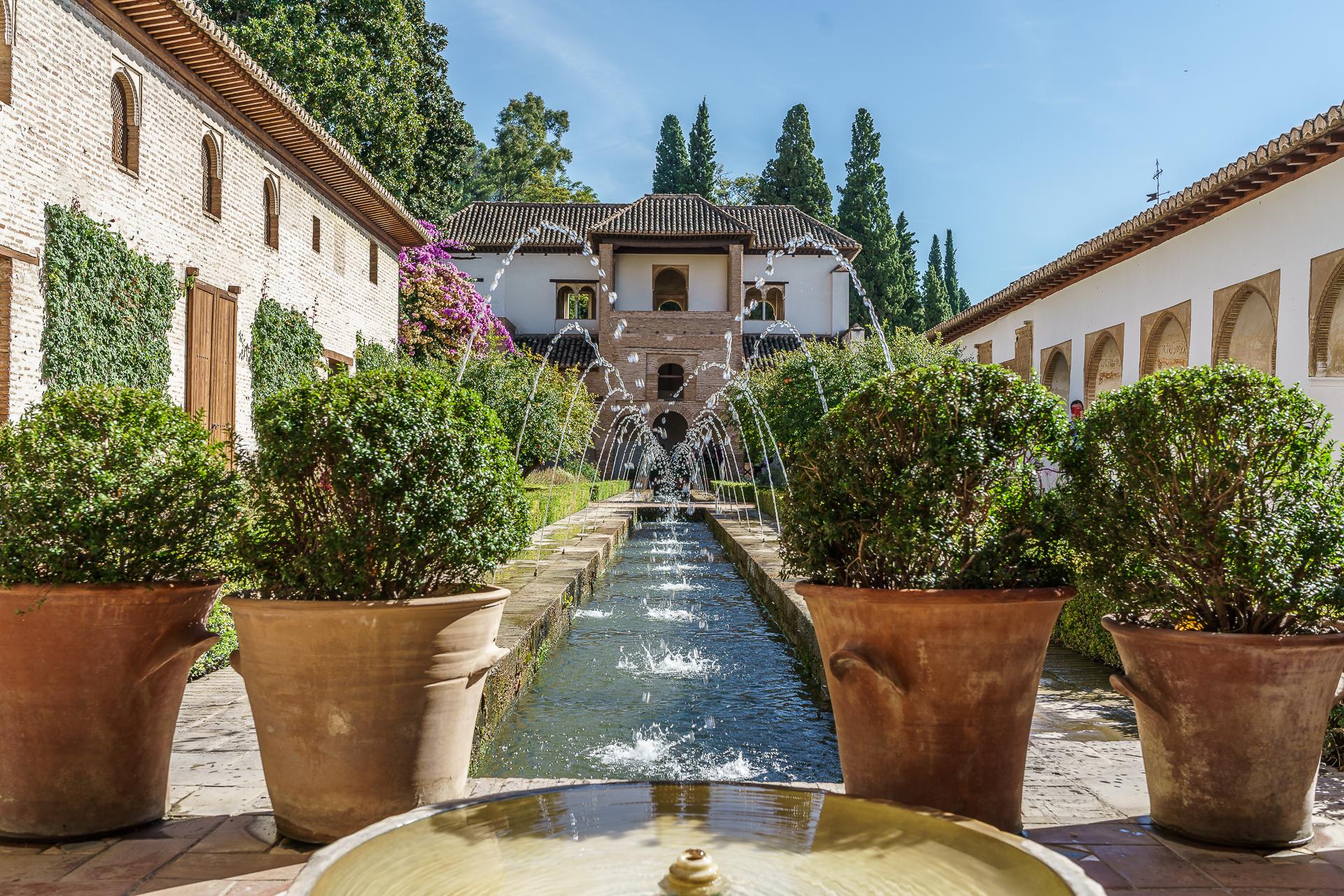 Generalife-Granada-Wasser