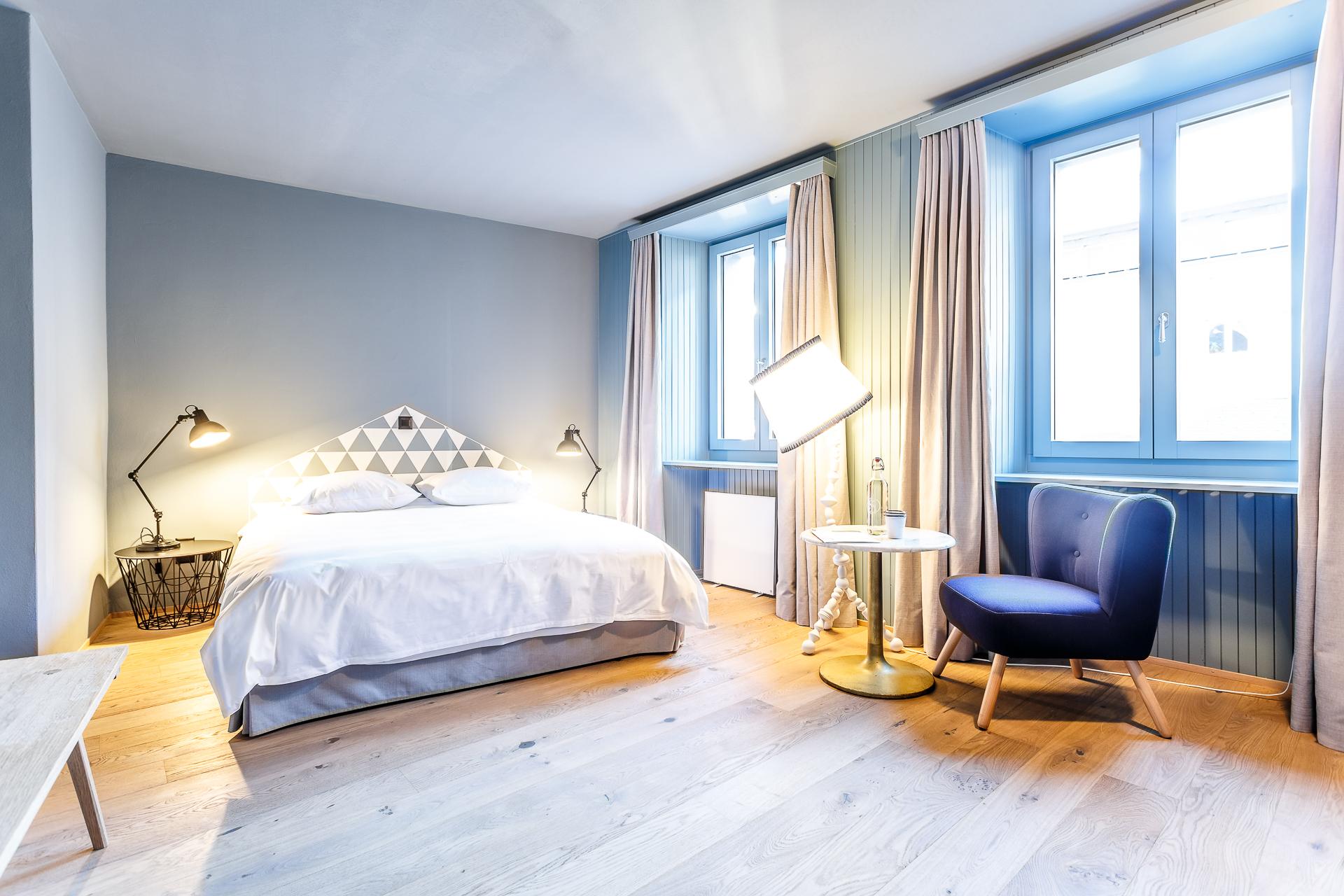 Zimmer im Hotel de Londres in Brig