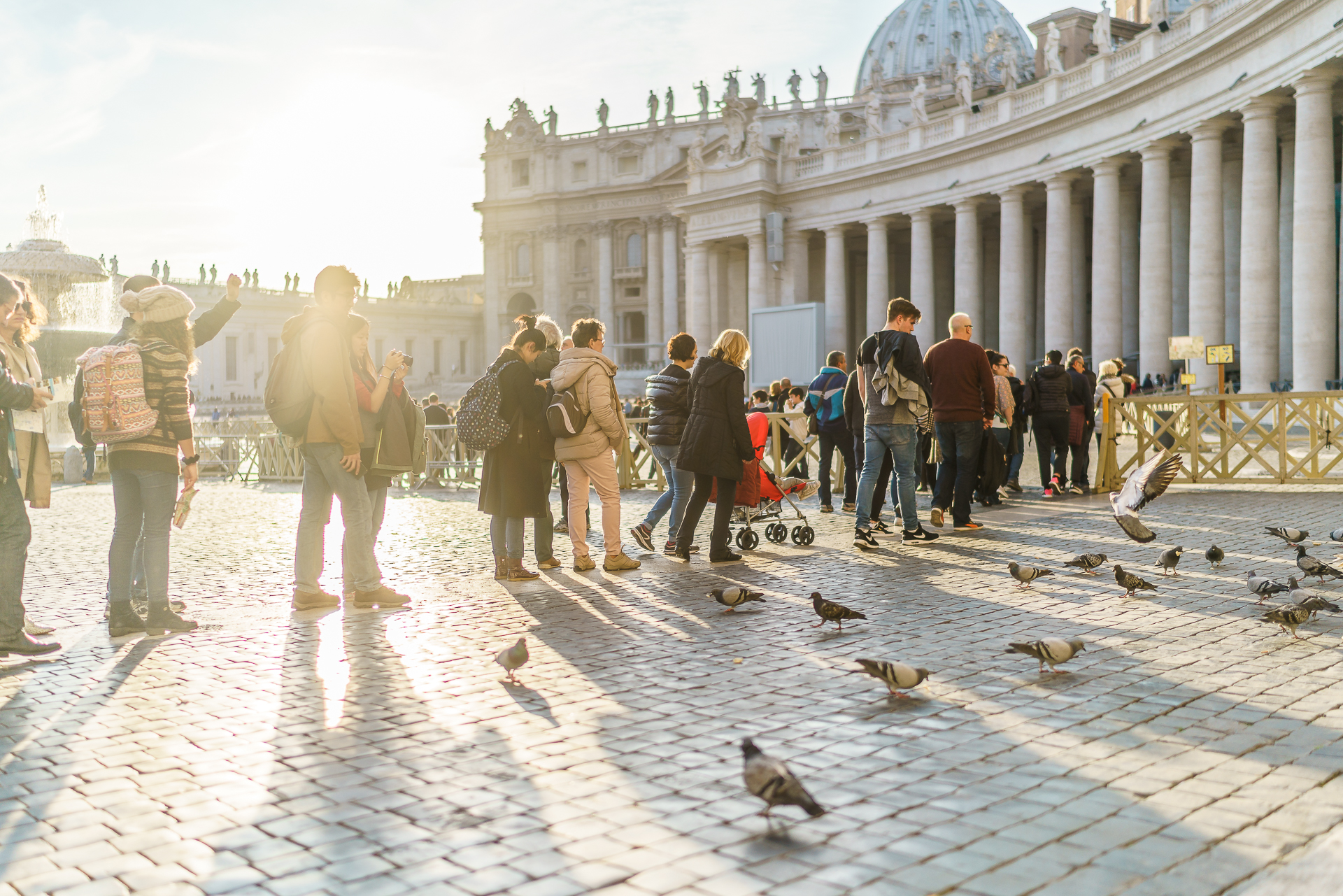 Rom-Petersdom-Anstehen