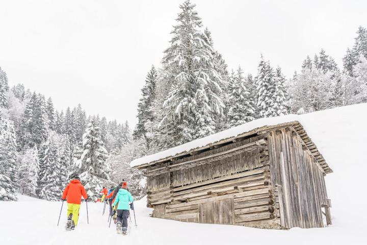 Skifahren auf alten Schmugglerpfaden