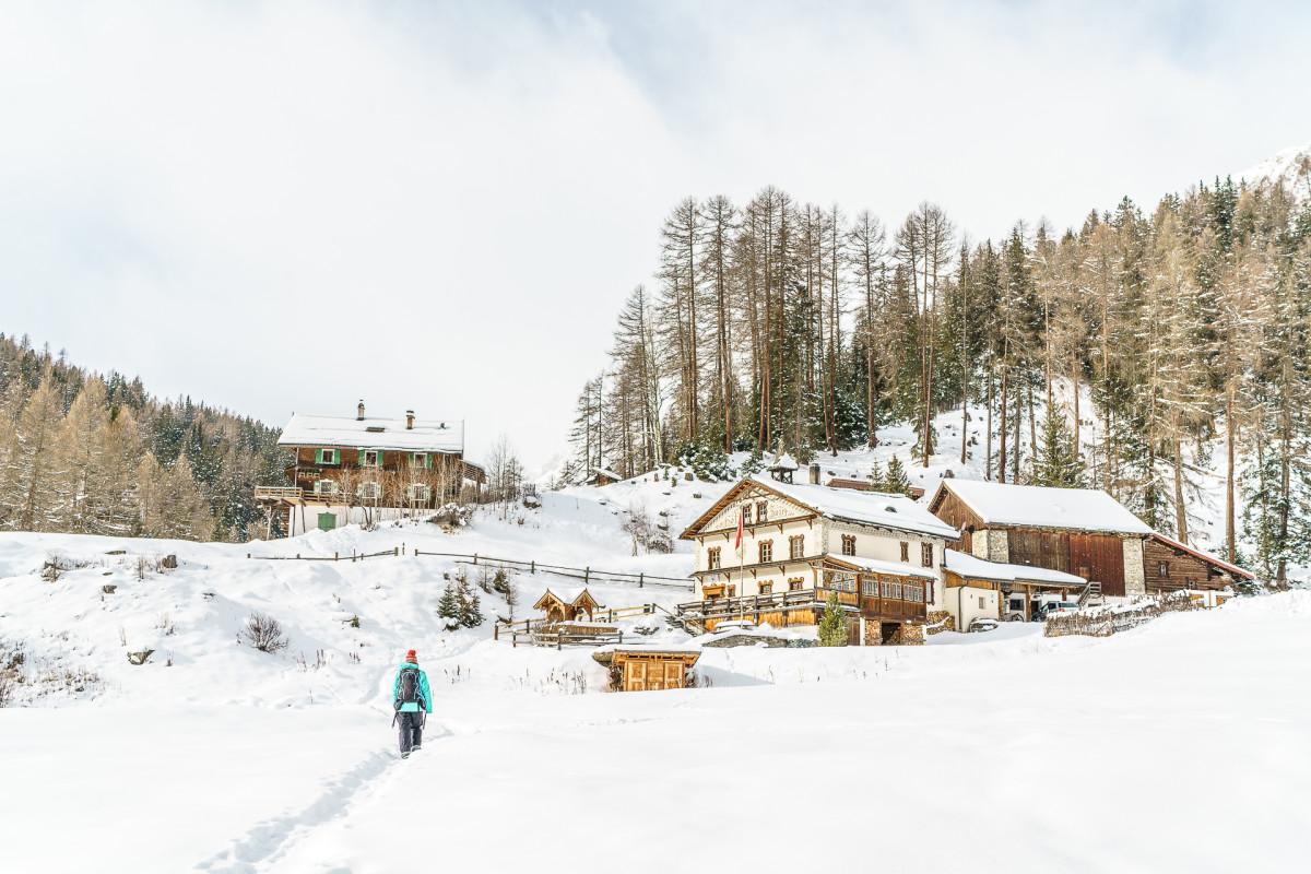 Vna – Zuort: Winterwanderung im Val Sinestra