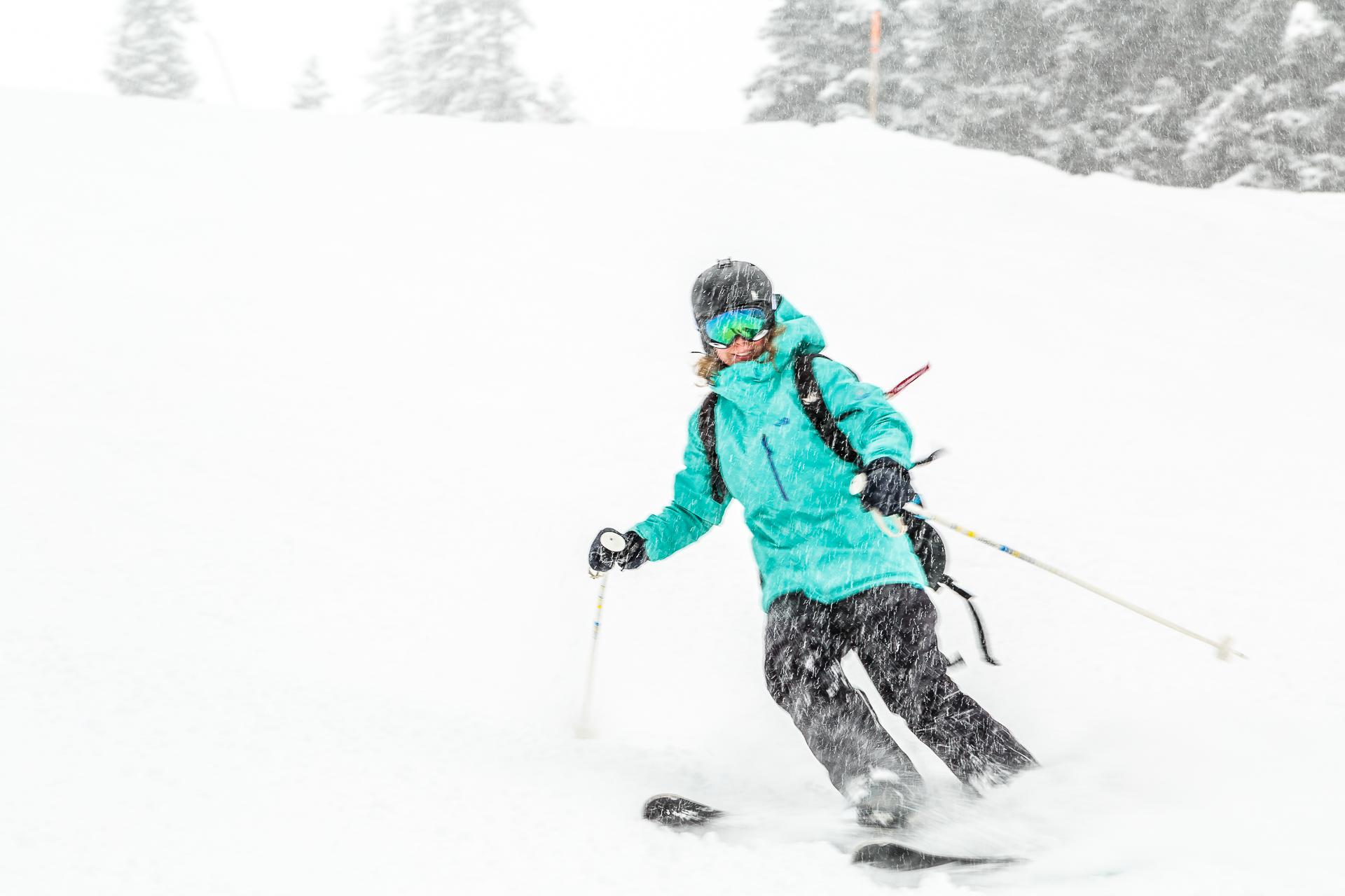 North-Face-Skijacke-Skifahren