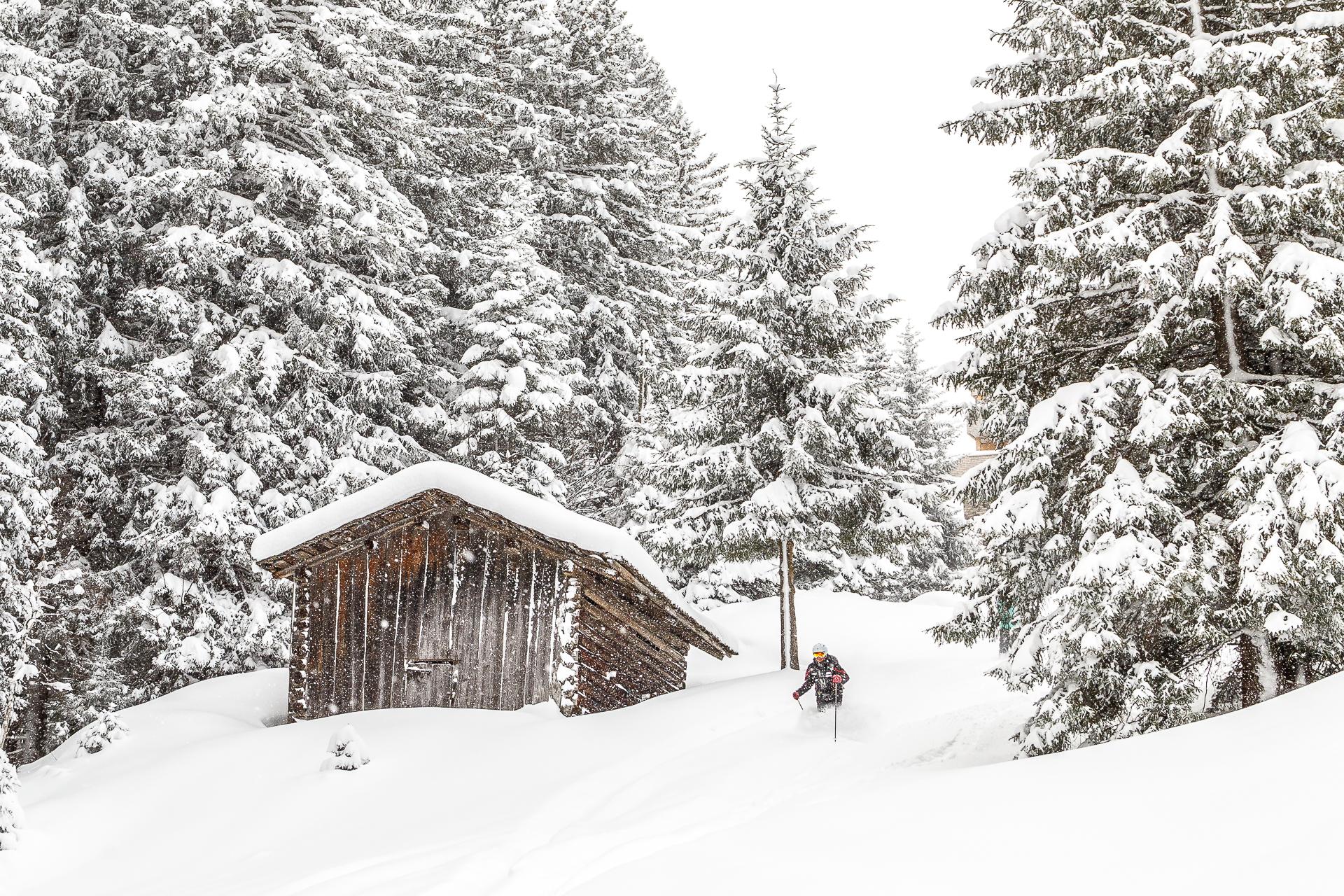Skigebiet-Gargellen-Tiefschnee