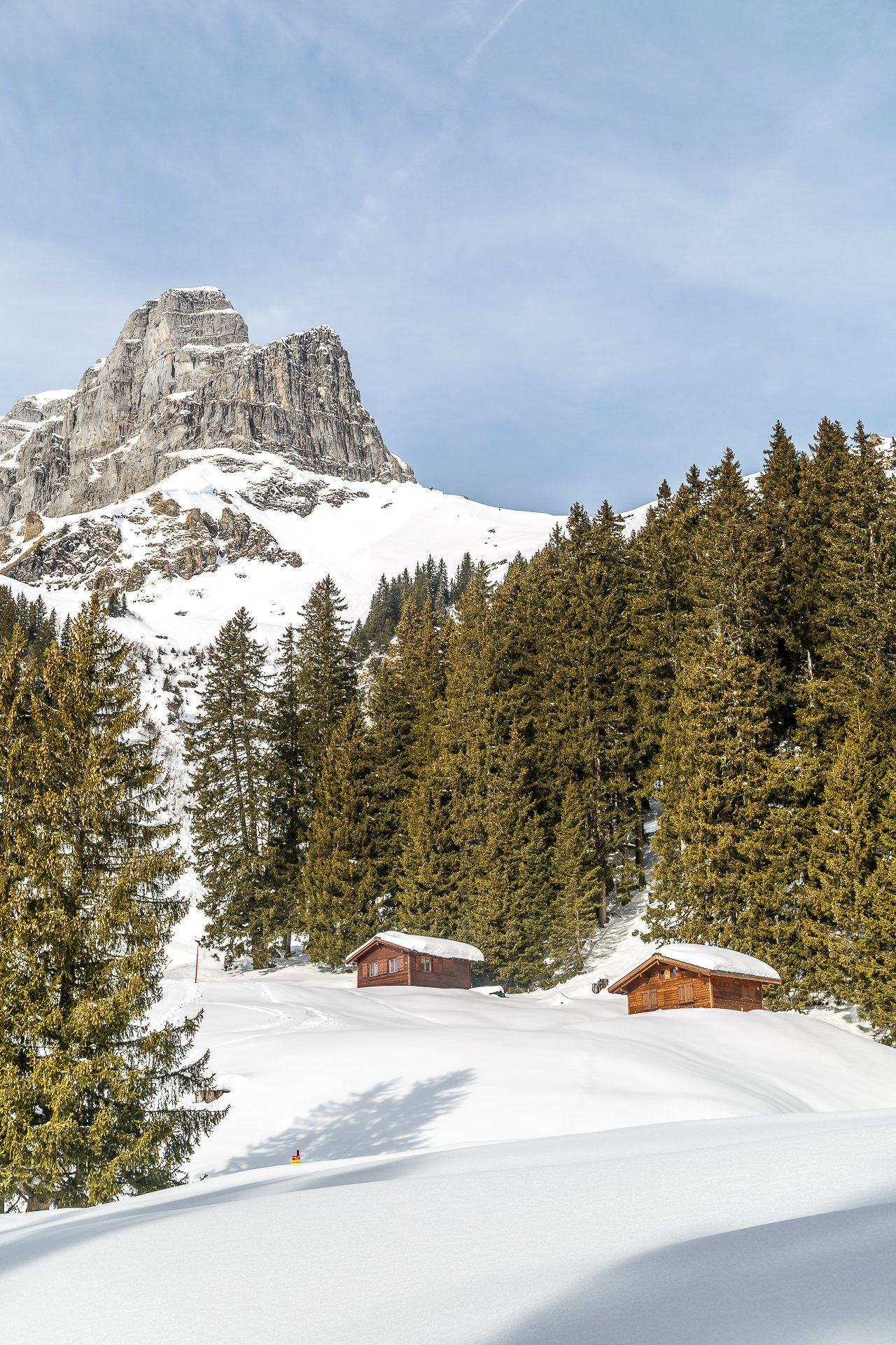 Braunwald-SKigebiet-Winter