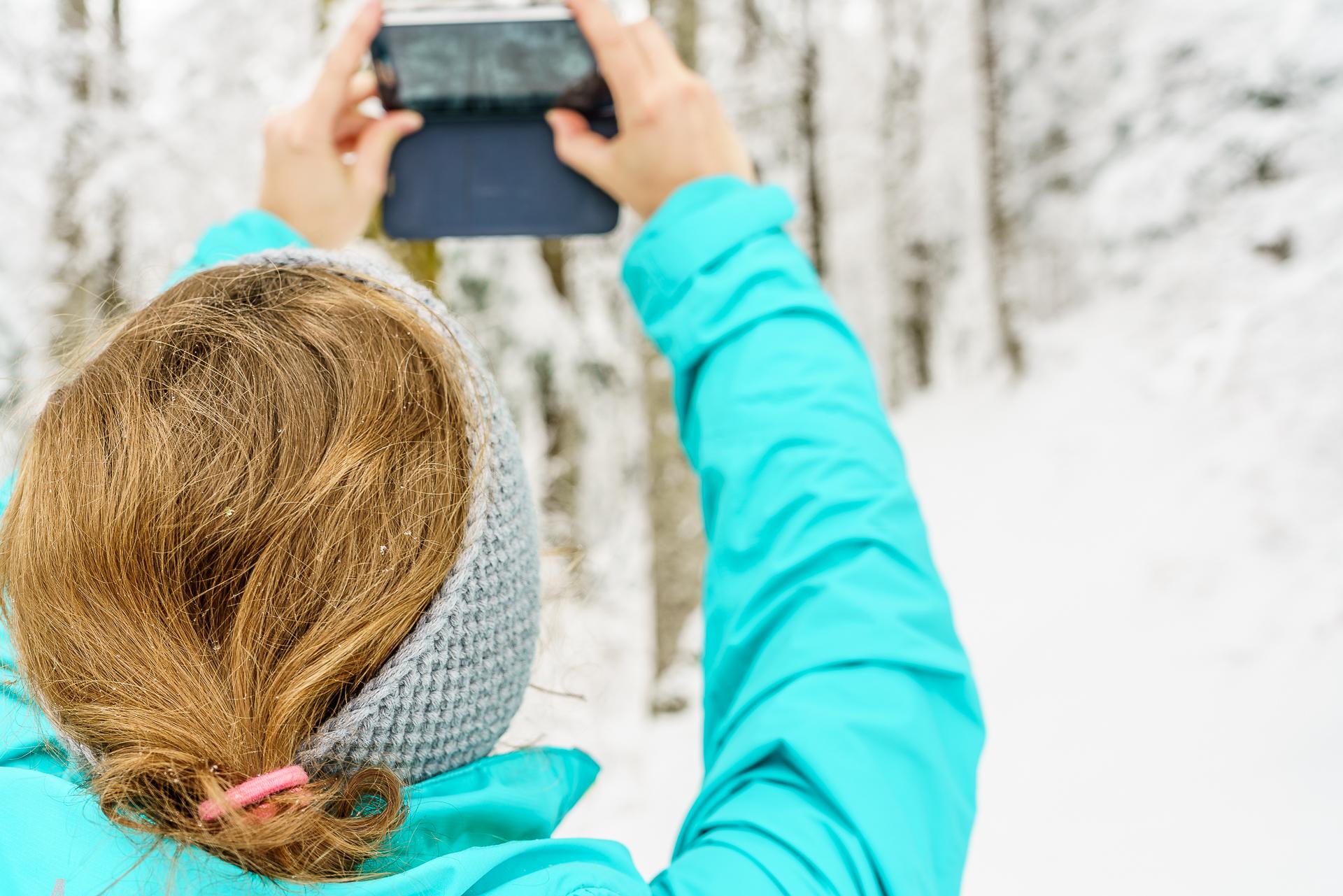 Instagramming-im-Schnee