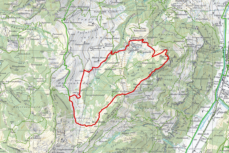 Karte-Winterwanderung-Wirzweli-Gummenalp