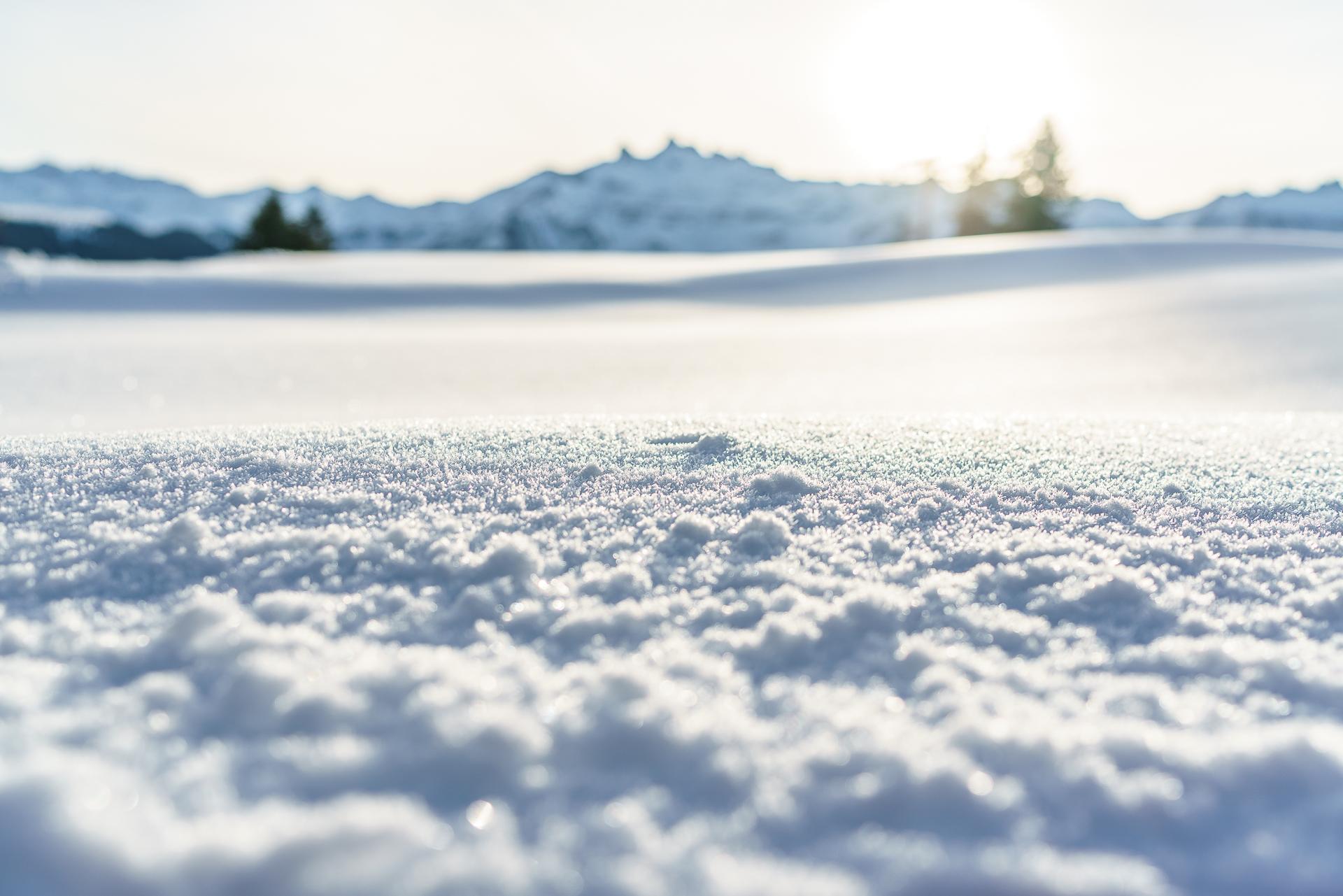 Schneekristalle-Winter