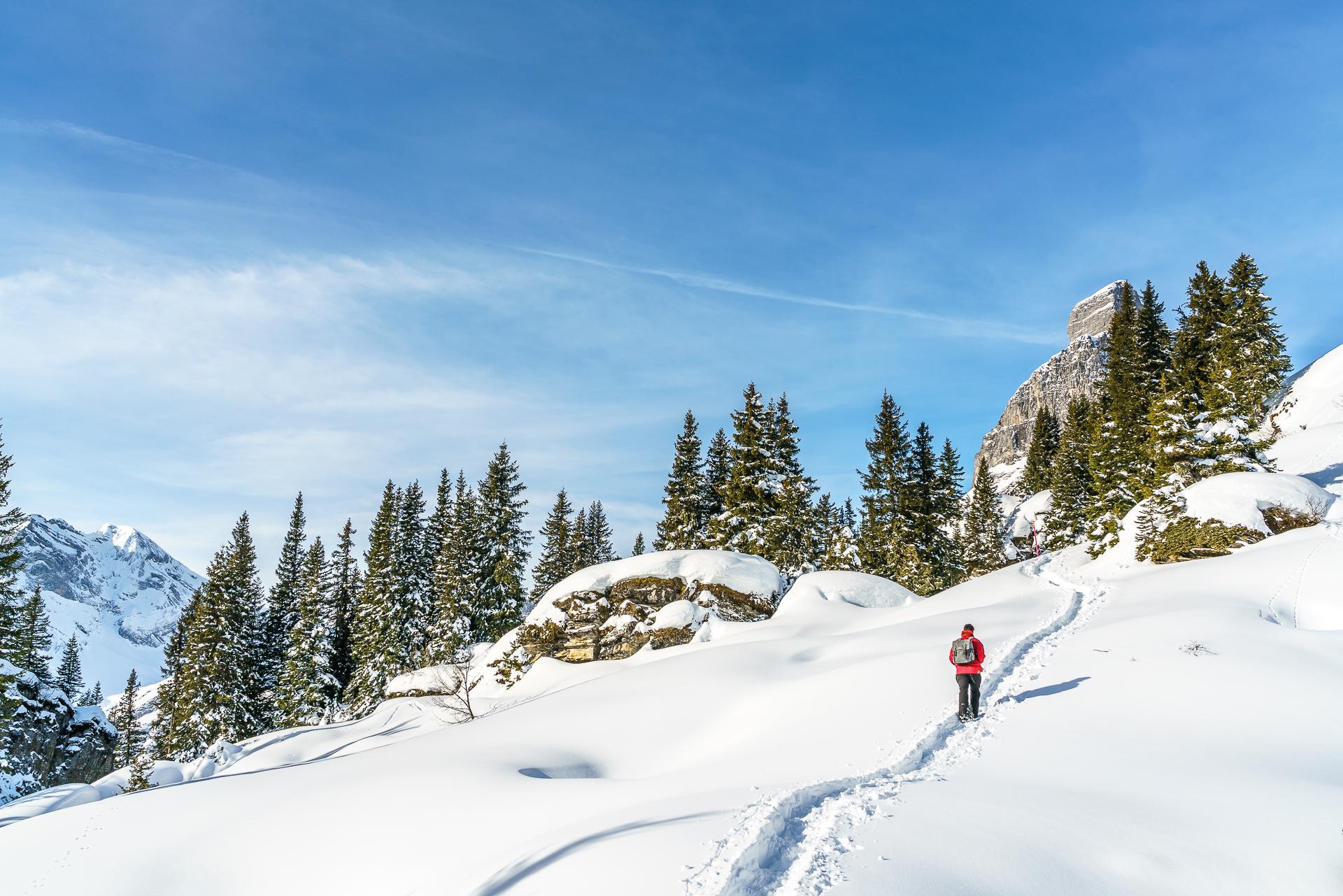 Schneeschuhtour-Braunwald-Grotzenbuel
