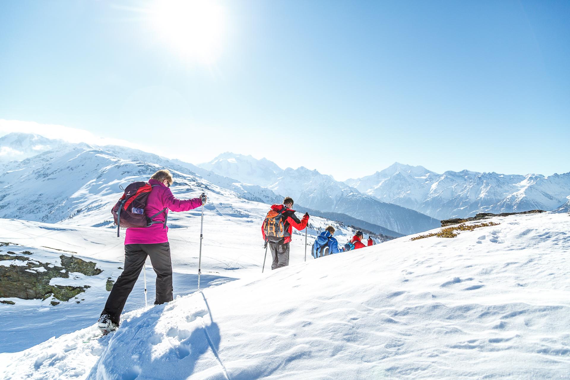 Visperterminen-Schneeschuhwandern