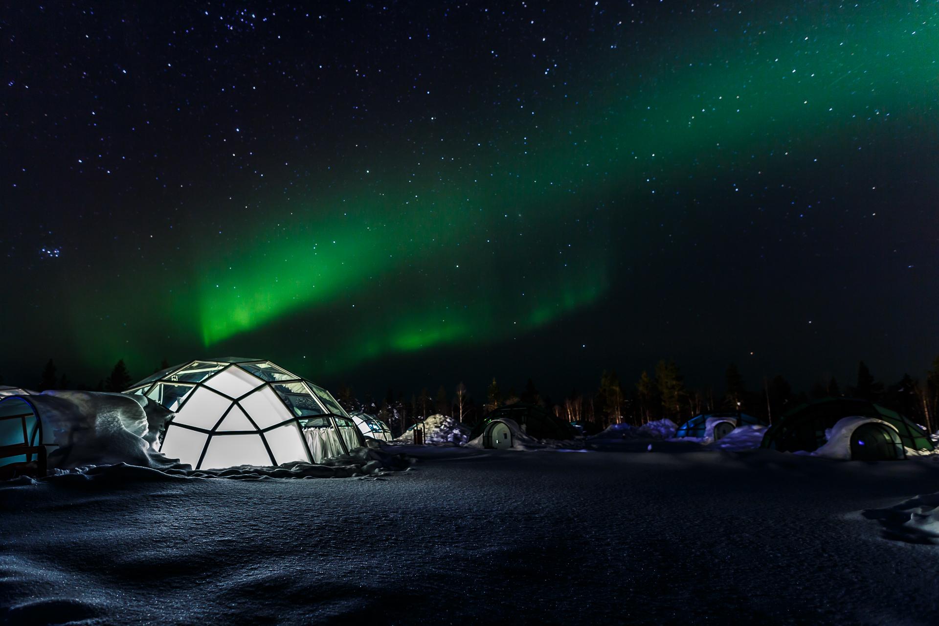 glasiglu finnland polarlichter