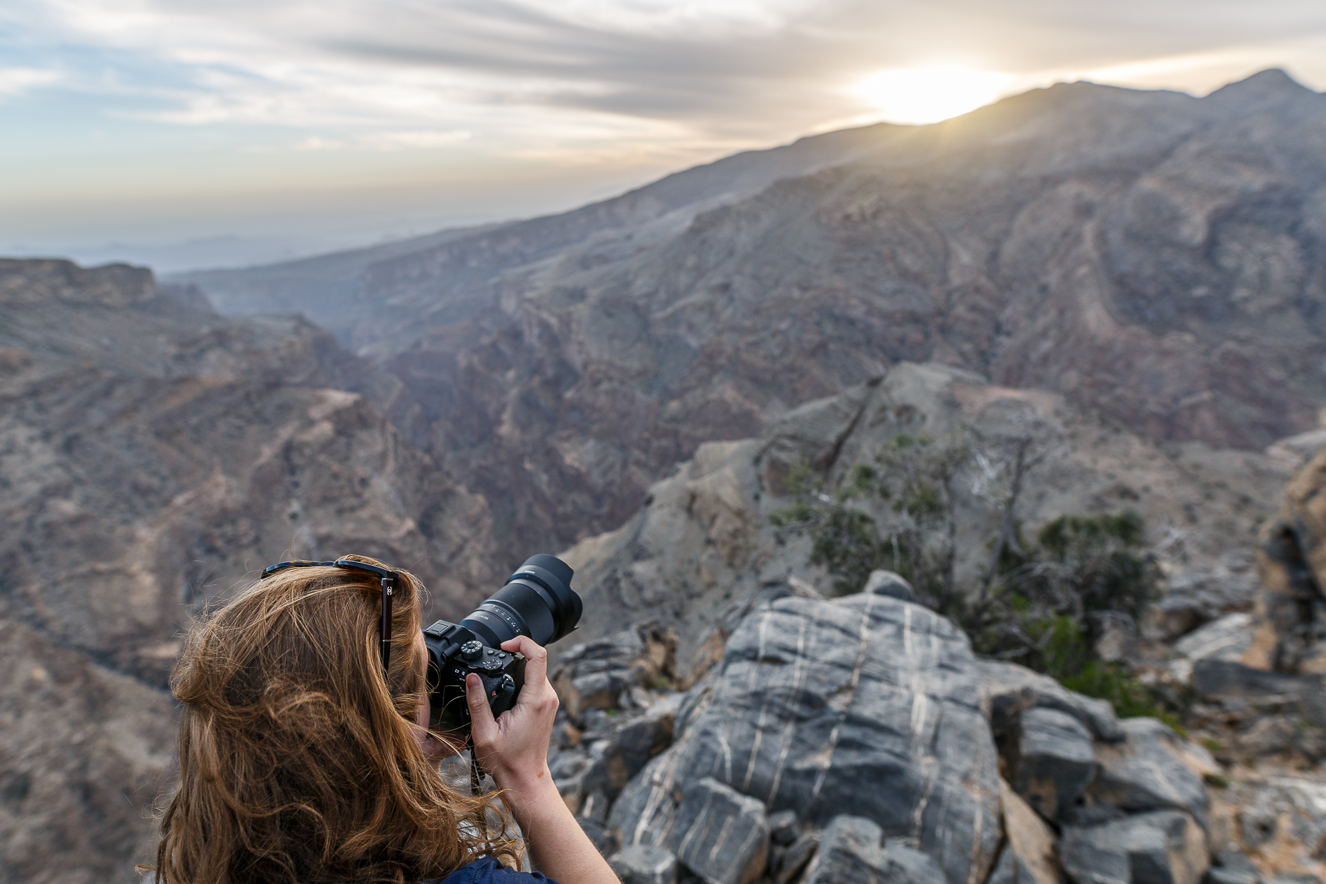 Jabal-Akhdar-Gebirge-Sonnenuntergang