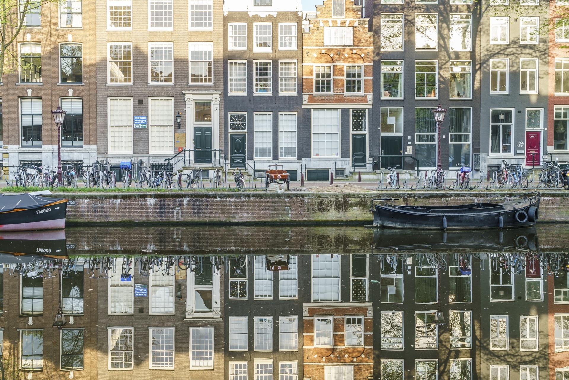 Amsterdam-Spiegelung-Grachten