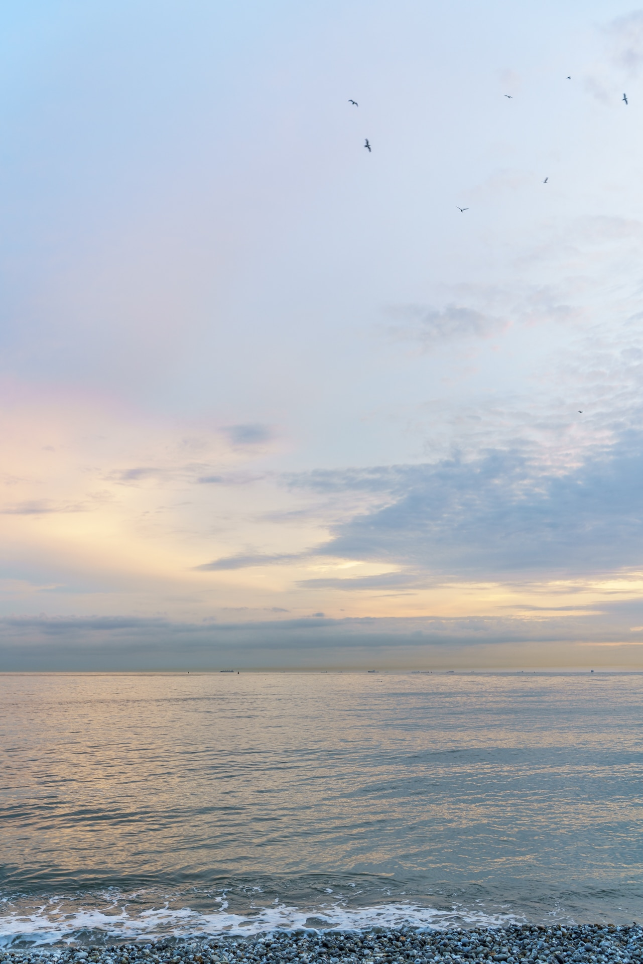 Normandie Strand Abenstimmung