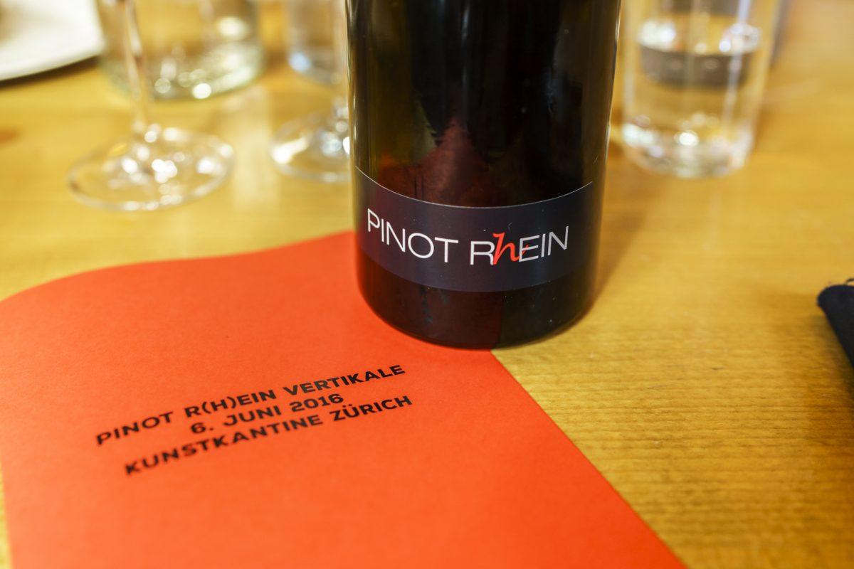 Kulinarischer Exkurs: Pinot Rhein Vertikale