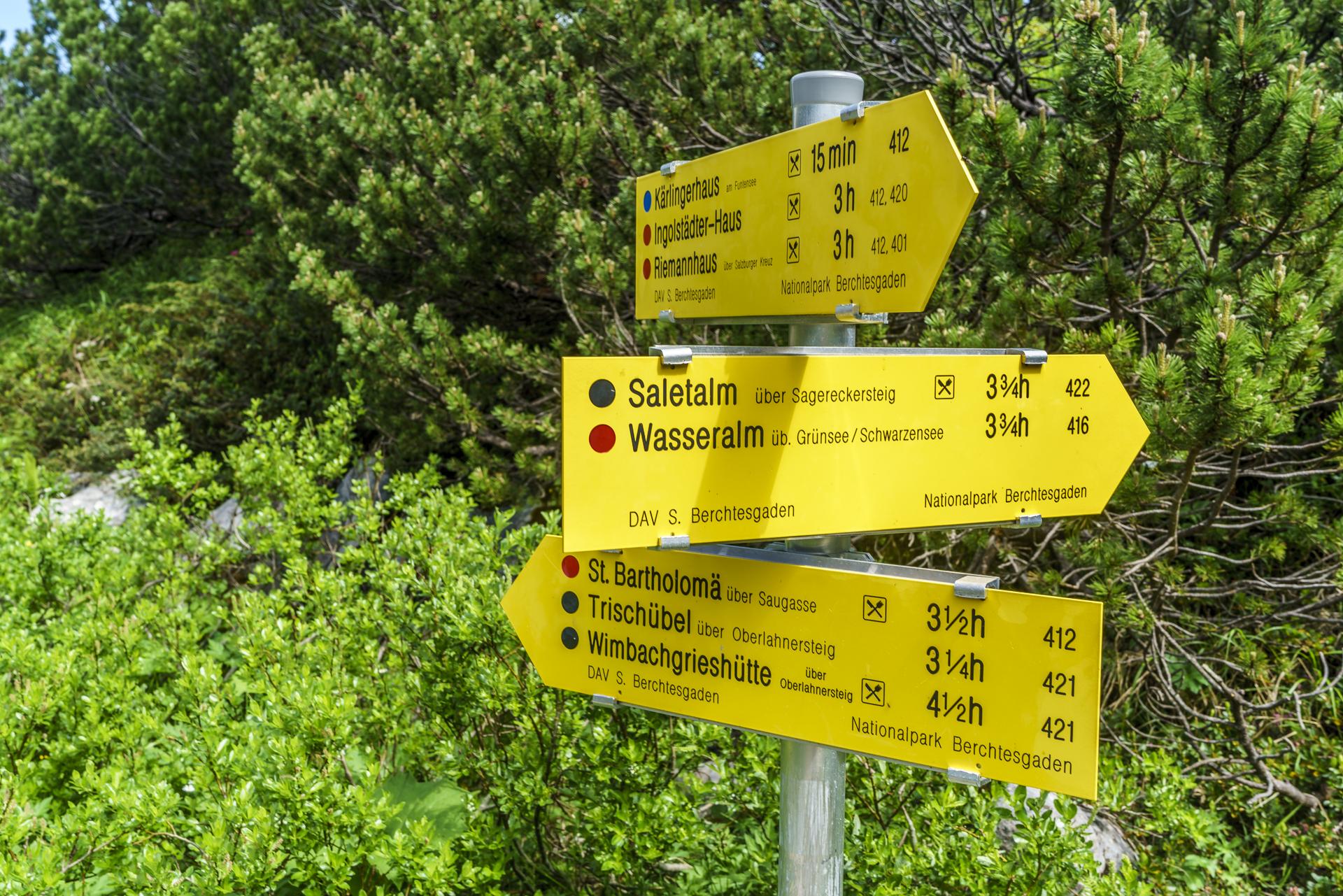 Wegweiser-Nationalpark-Berchtesgaden