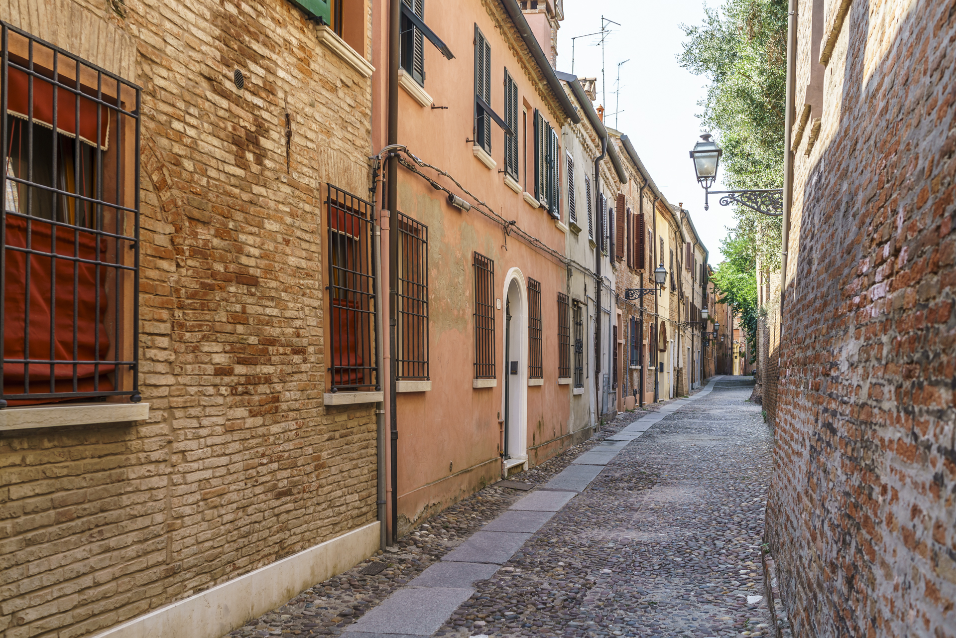 Ferrara-Italien-Gassen