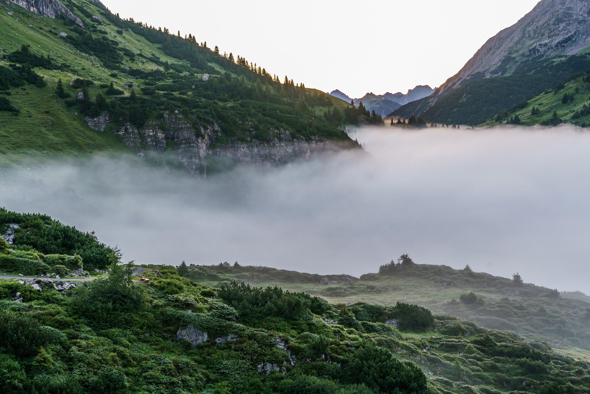 Formarinsee-Klostertal-Nebel