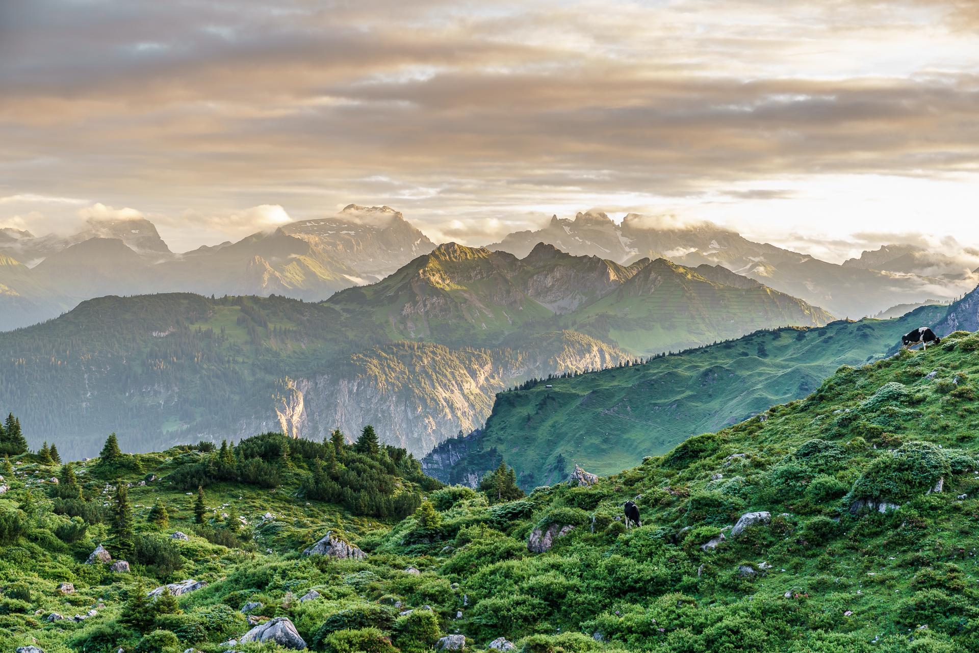 Vorarlberg-Alpenlandschaft