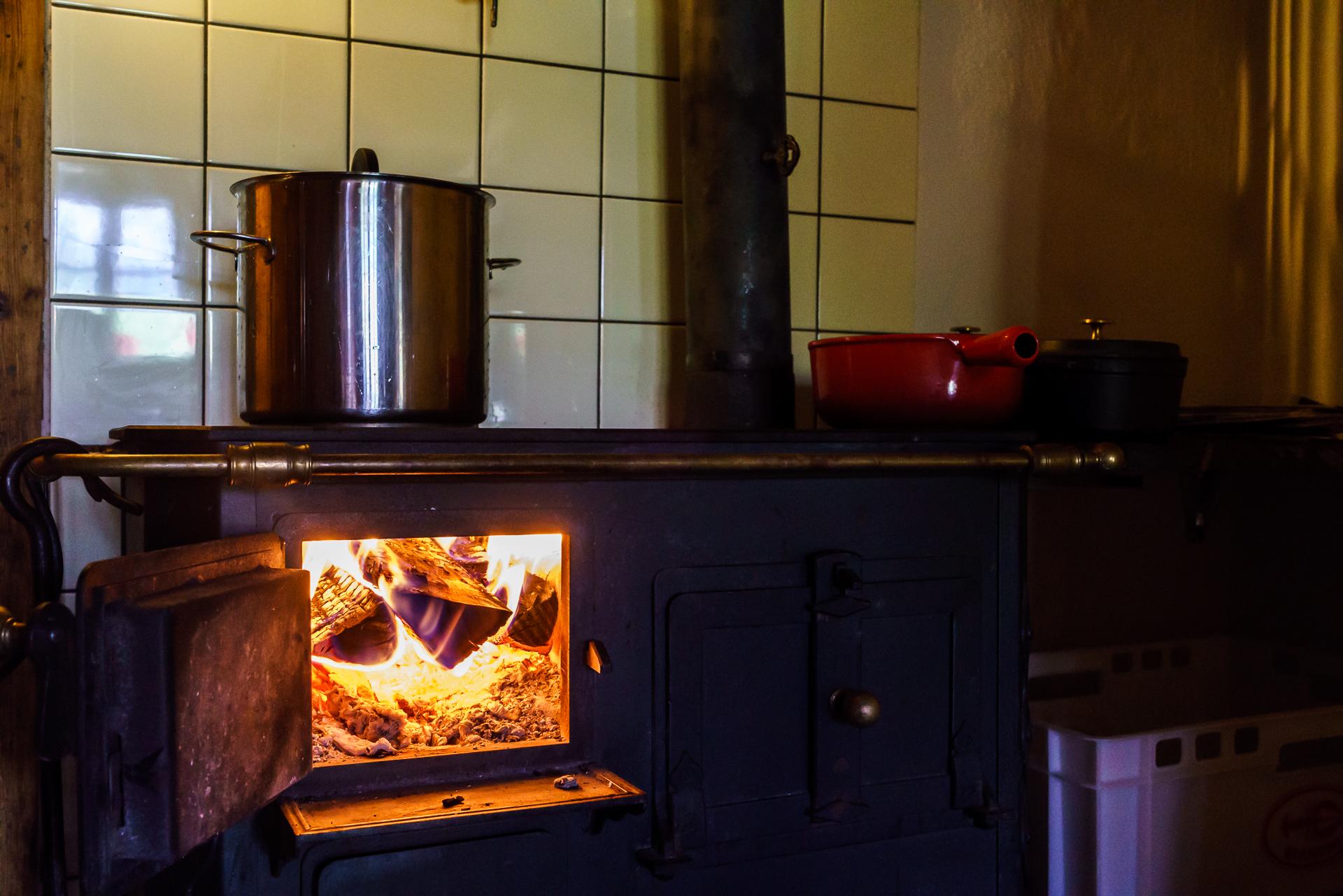 Walig-Huette-Kochbereich