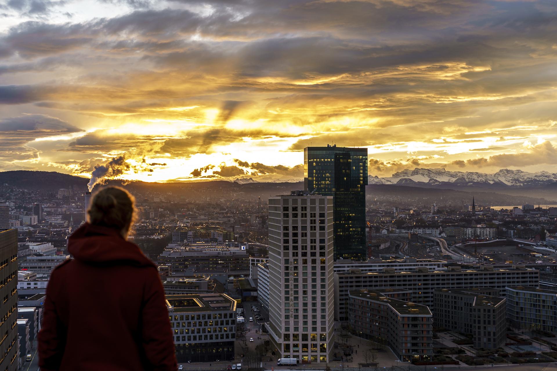 Aussicht Sheraton Tower Zürich West