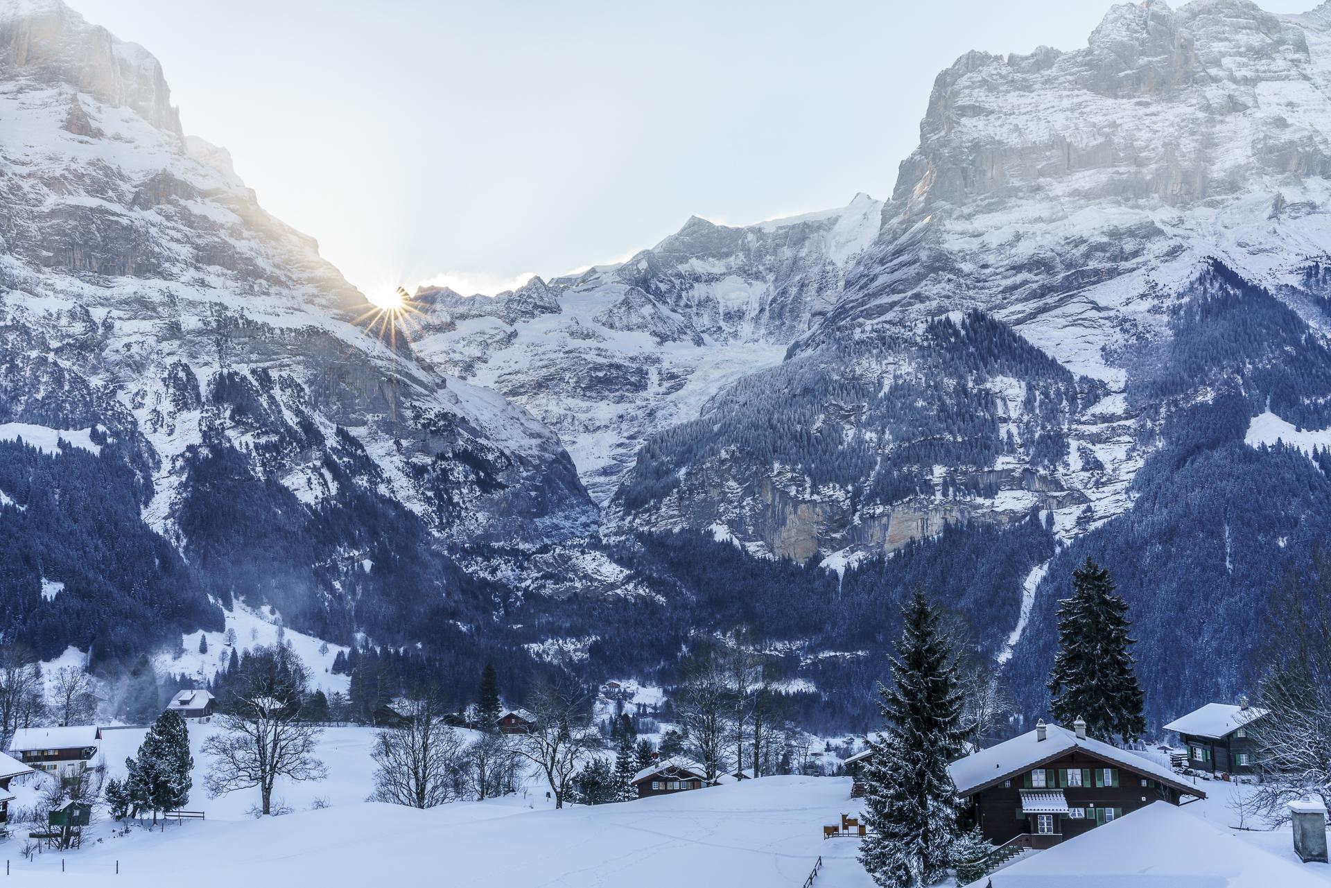 Grindelwald Sonnenaufgang