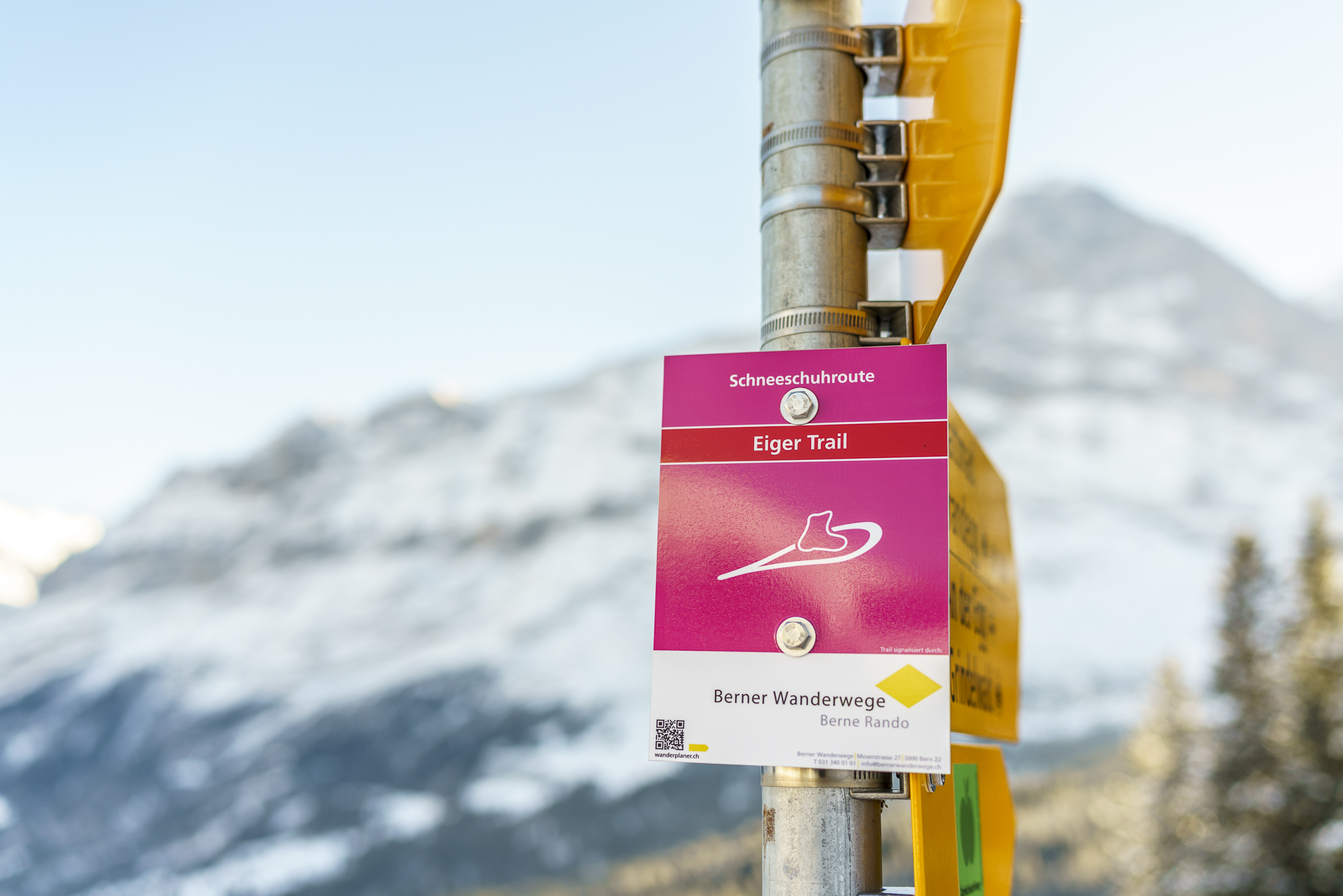 Schneeschuhroute Eiger Trail Grindelwald