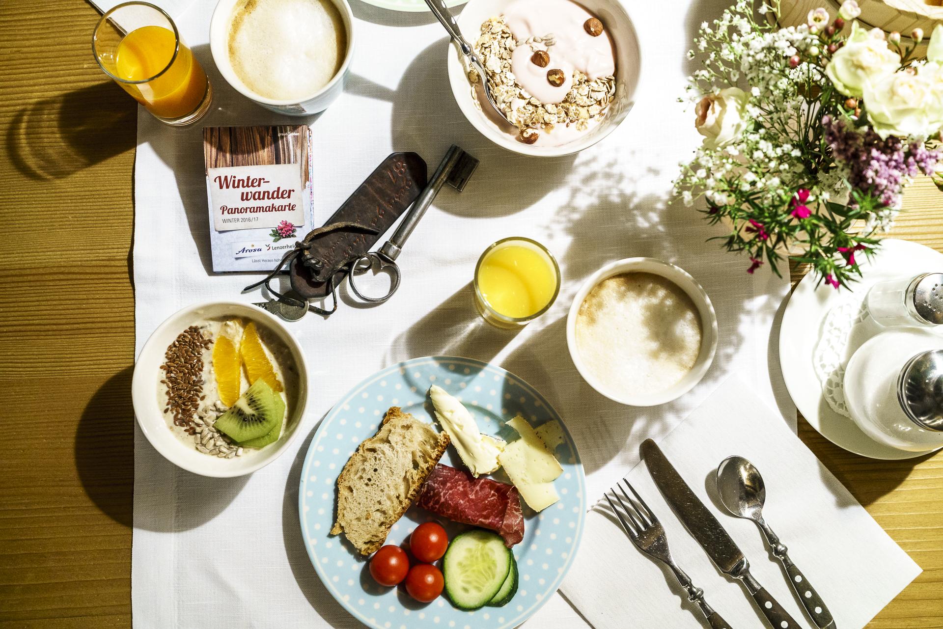 Frühstück Hotel Guarda Val