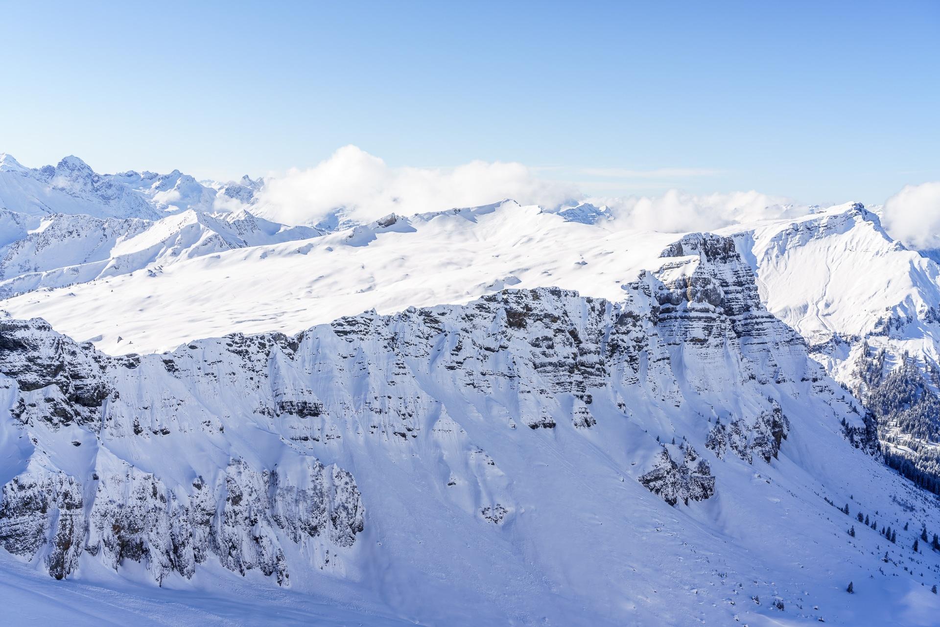 Kleinwalsertal Winterpanorama