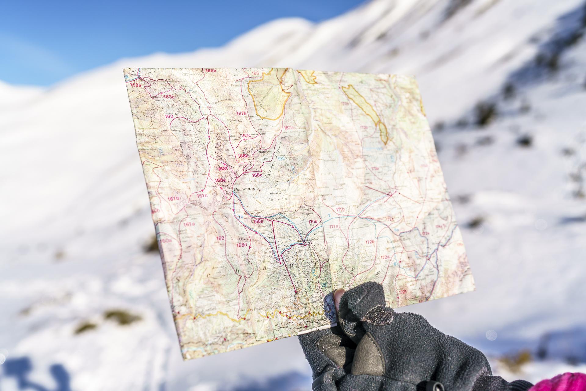 Skitourenkarte Prättigau