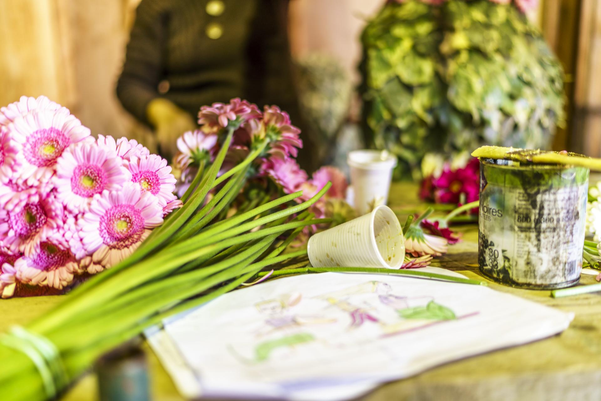 Corso Fleuri Bormes Vorbereitungen Blumen