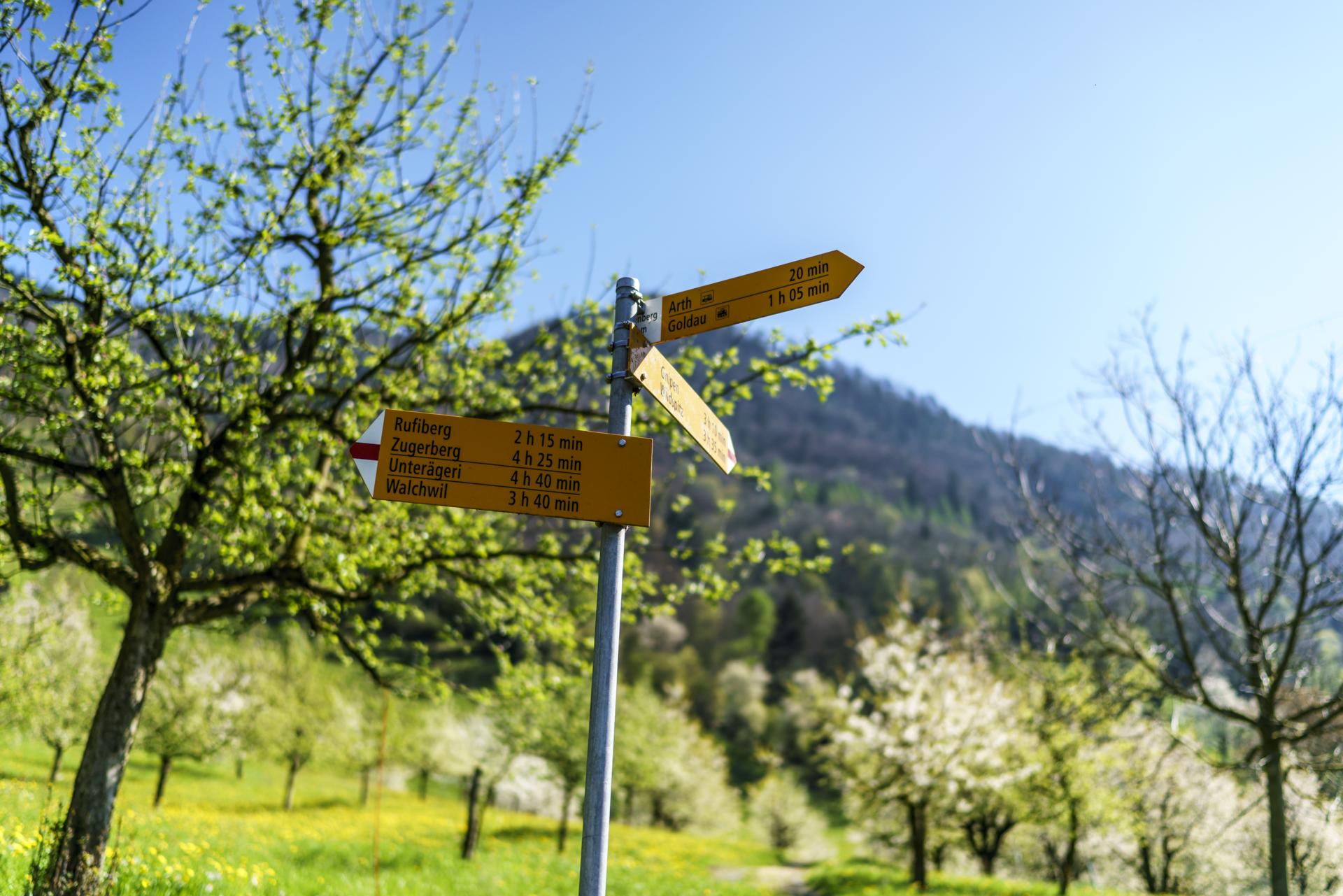 Kanton Zug Wanderwege