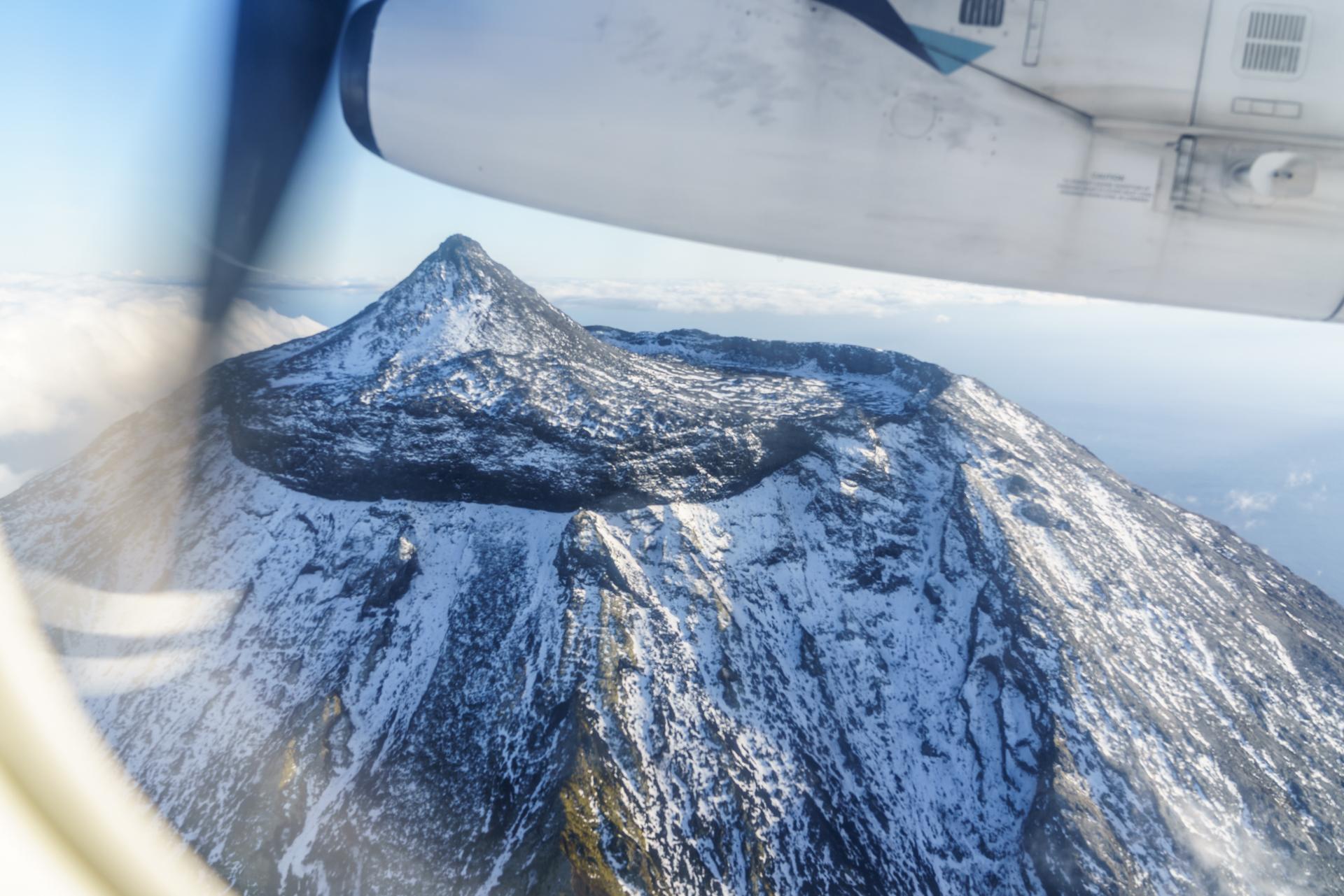 Pico Vulkan Flugzeugblick