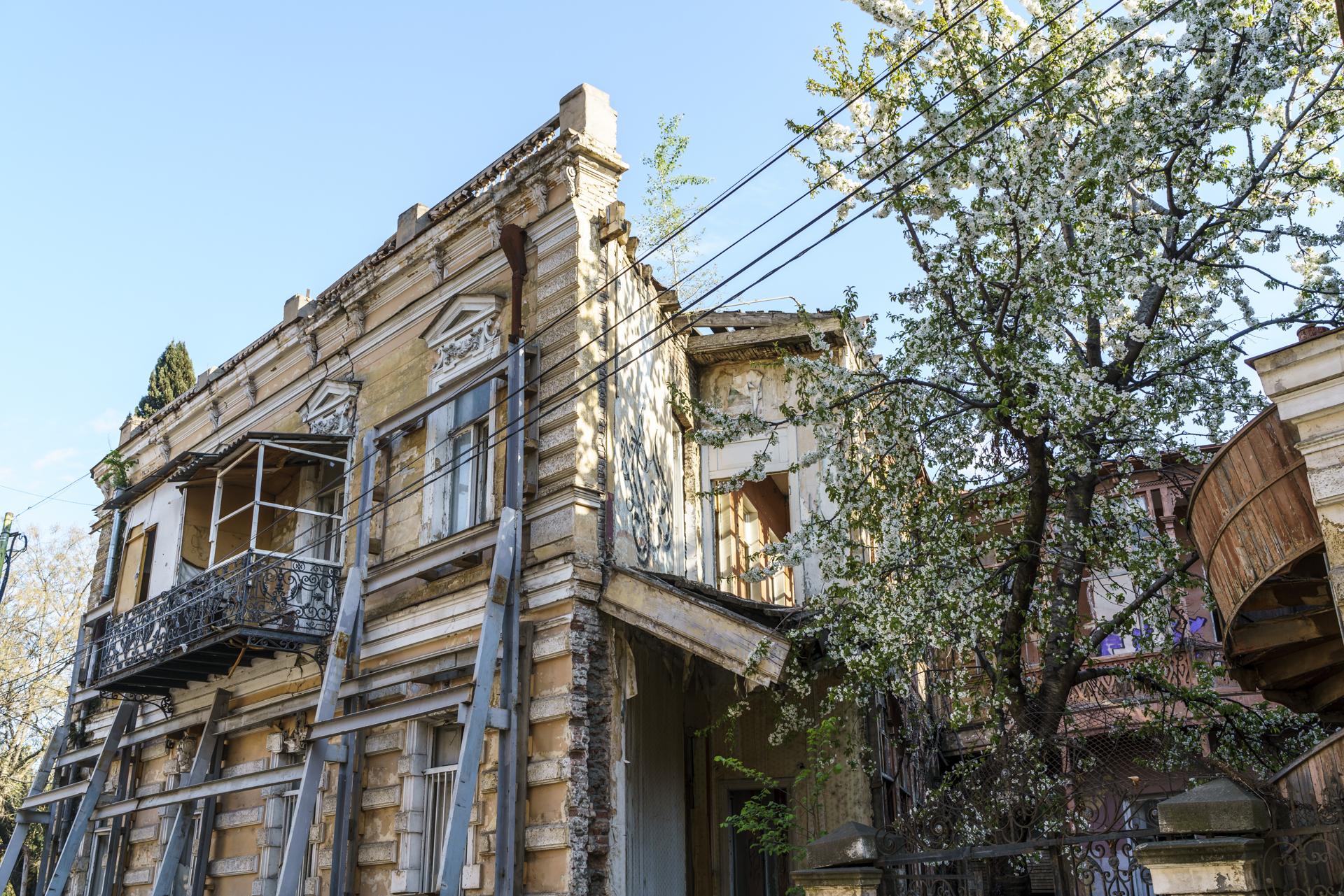 Baufällige Altstadt Tiflis