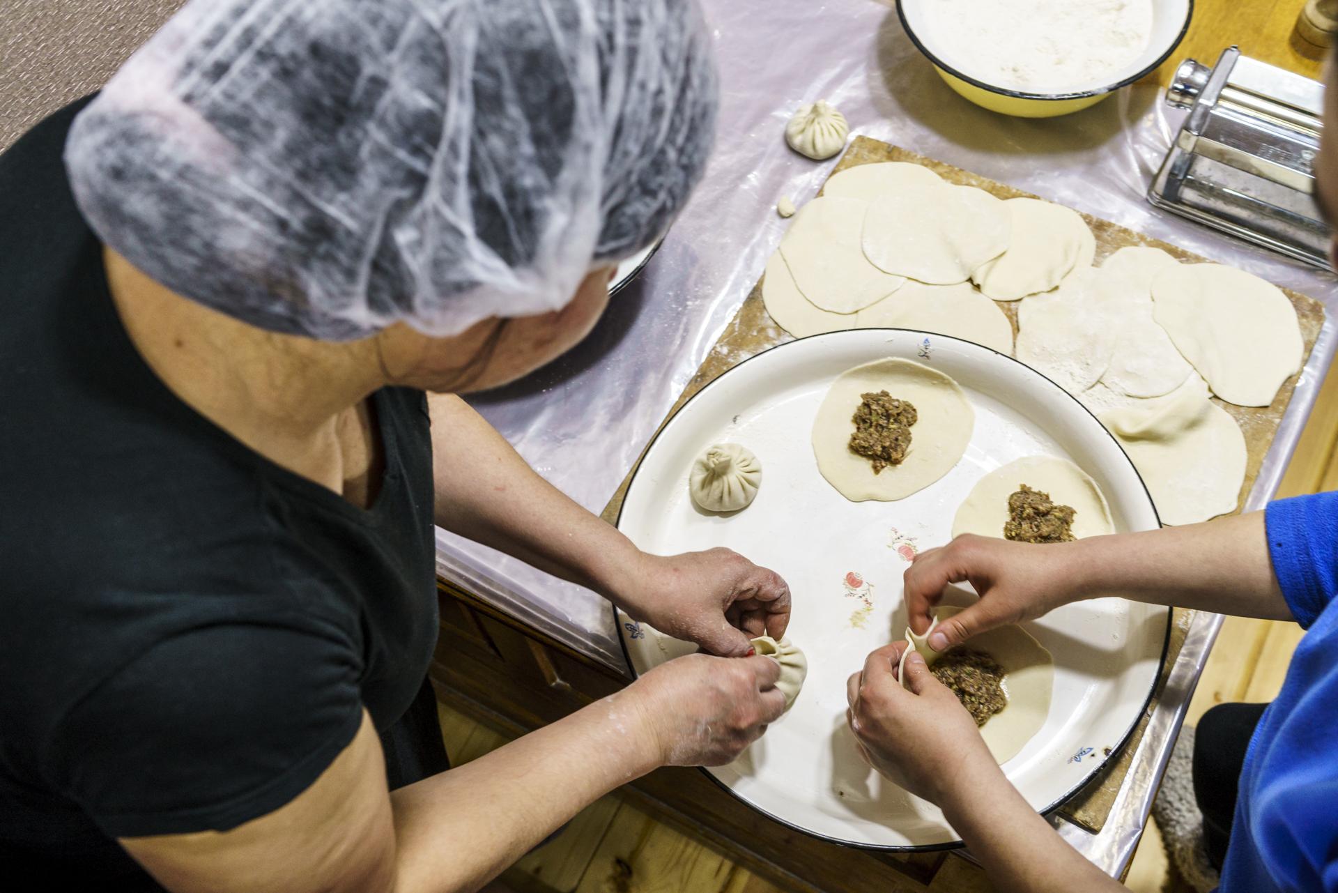 Chinkali Vorbereitung