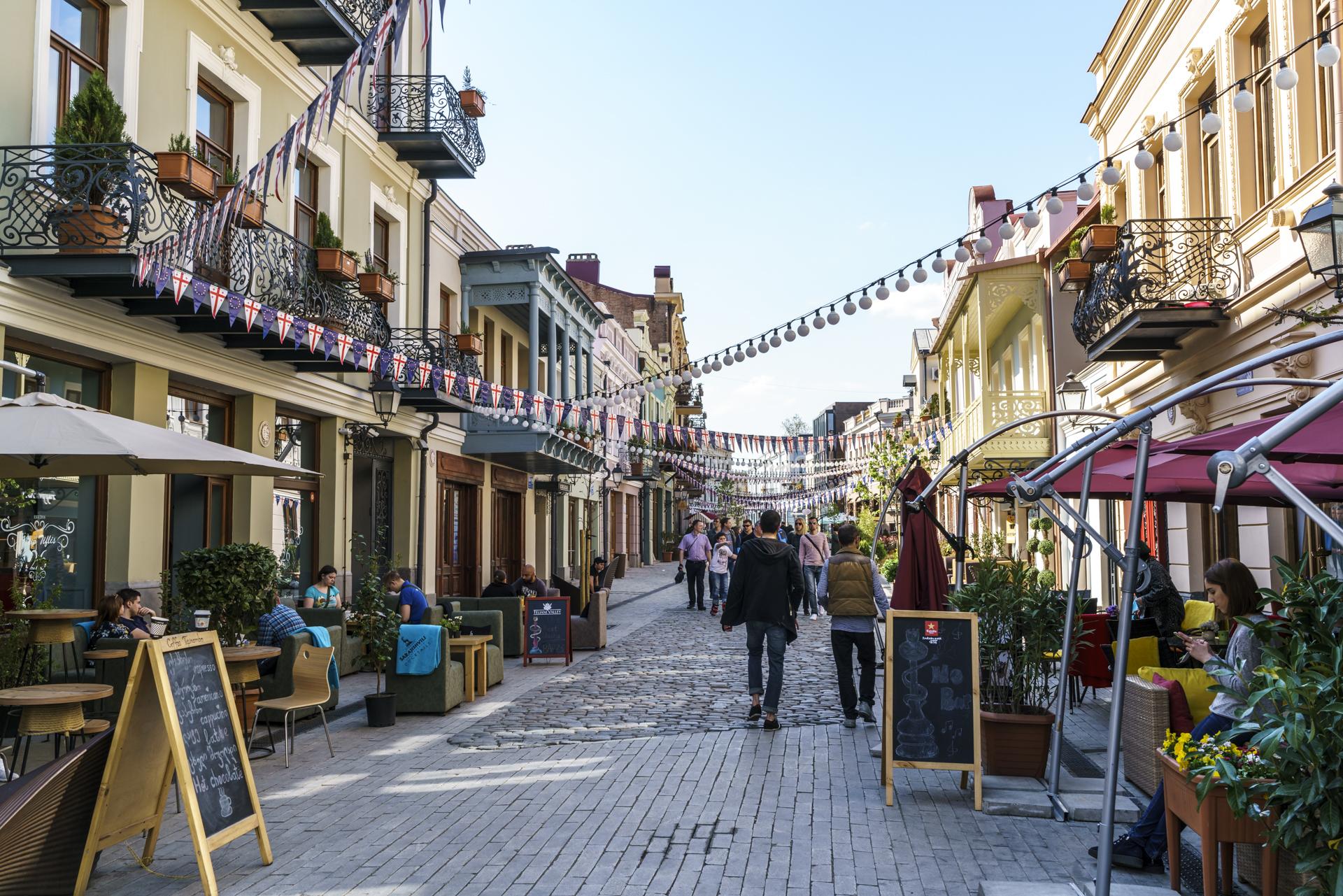 Fussgängerzone Neu-Tiflis