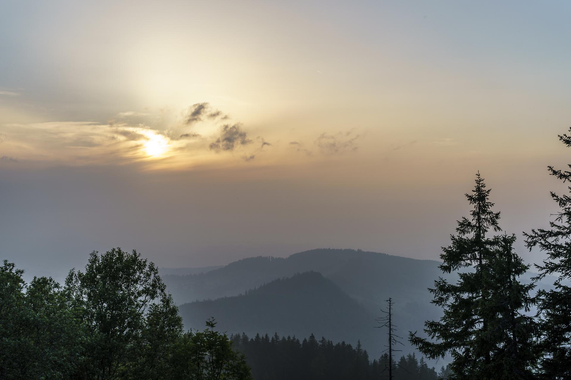 Sonnenuntergang Fränkmüntegg
