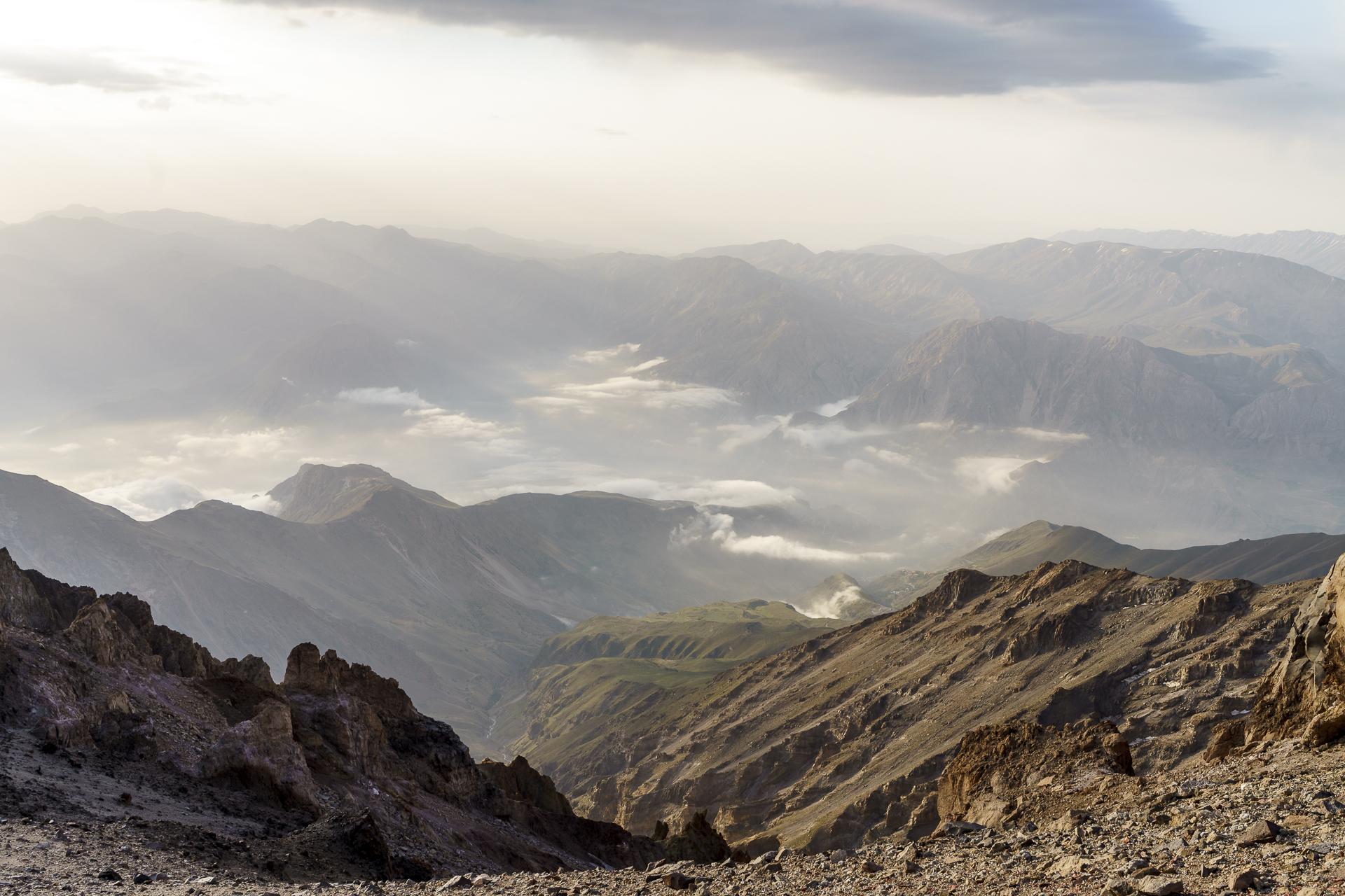 Berge Iran Morgenstimmung