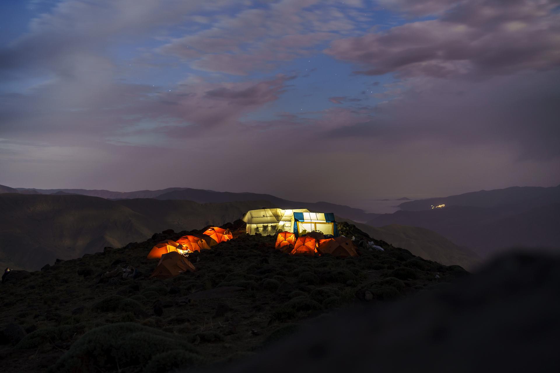 Camp 1 Nachtstimmung Iran