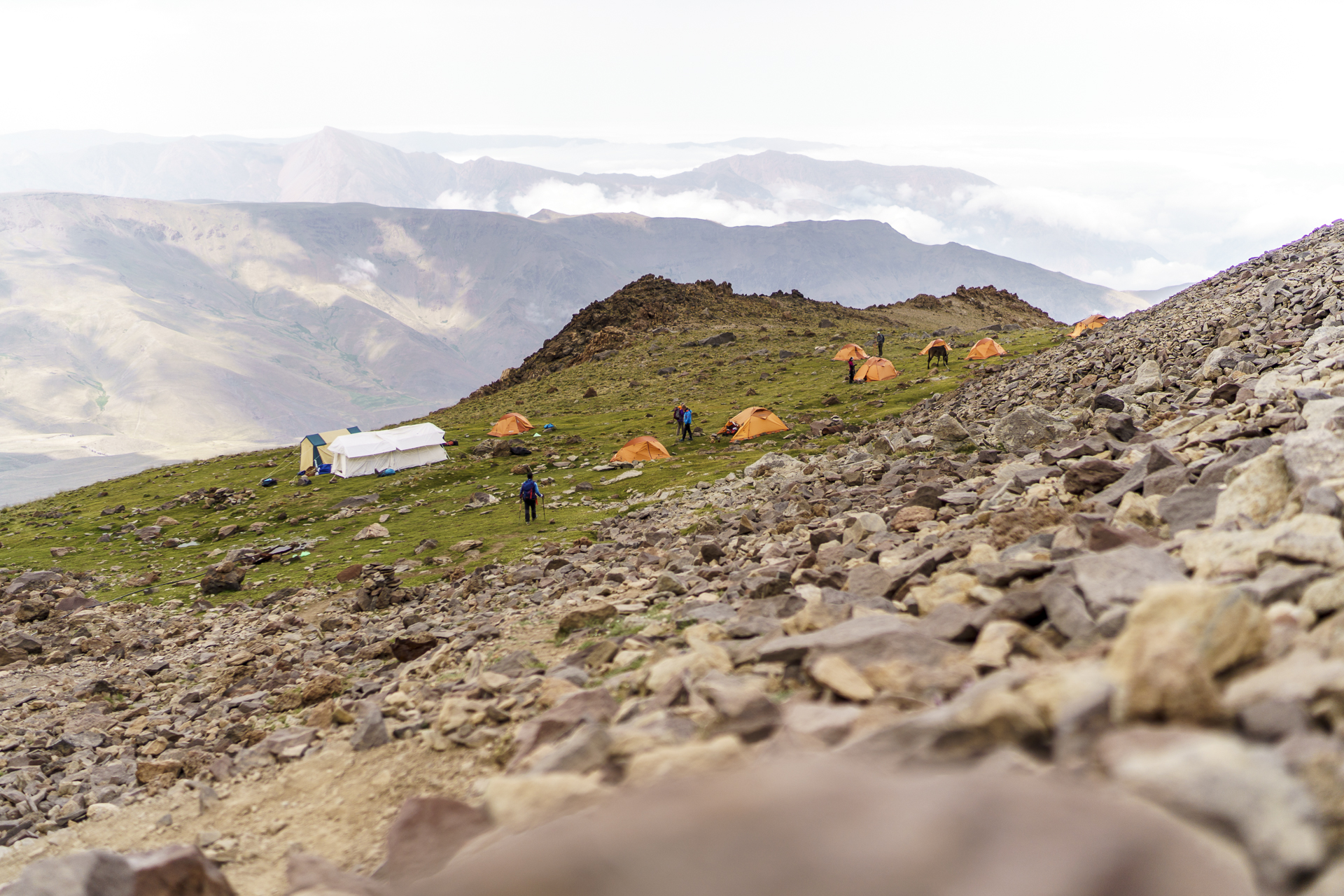 Camp 2 Damavand Nordroute