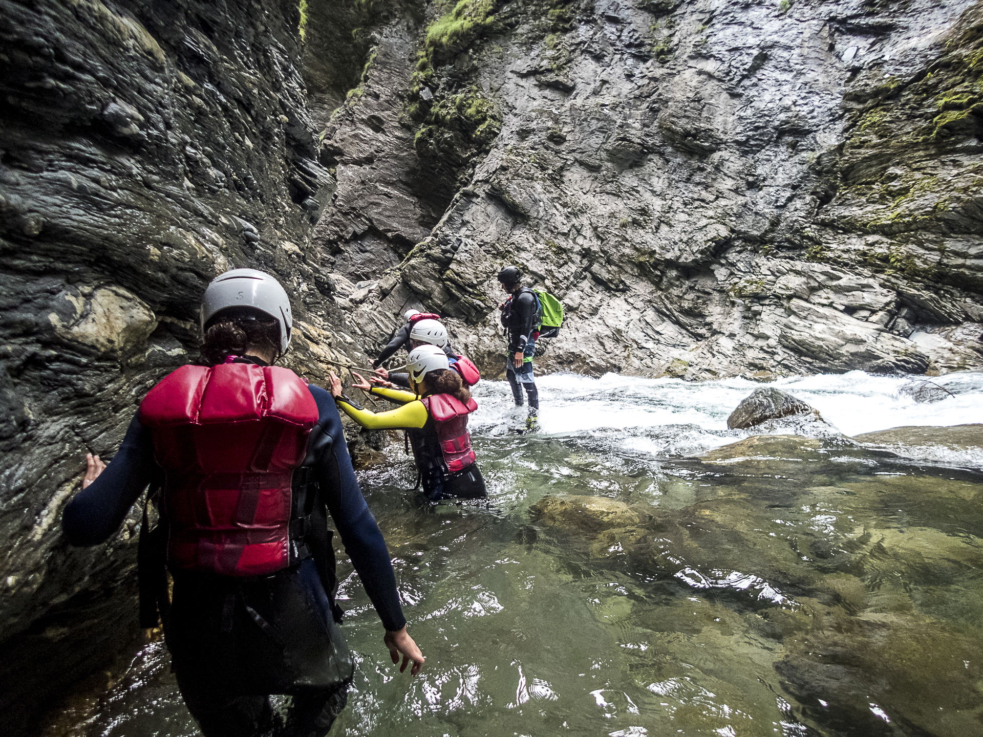 Canyoning durch die Viamala