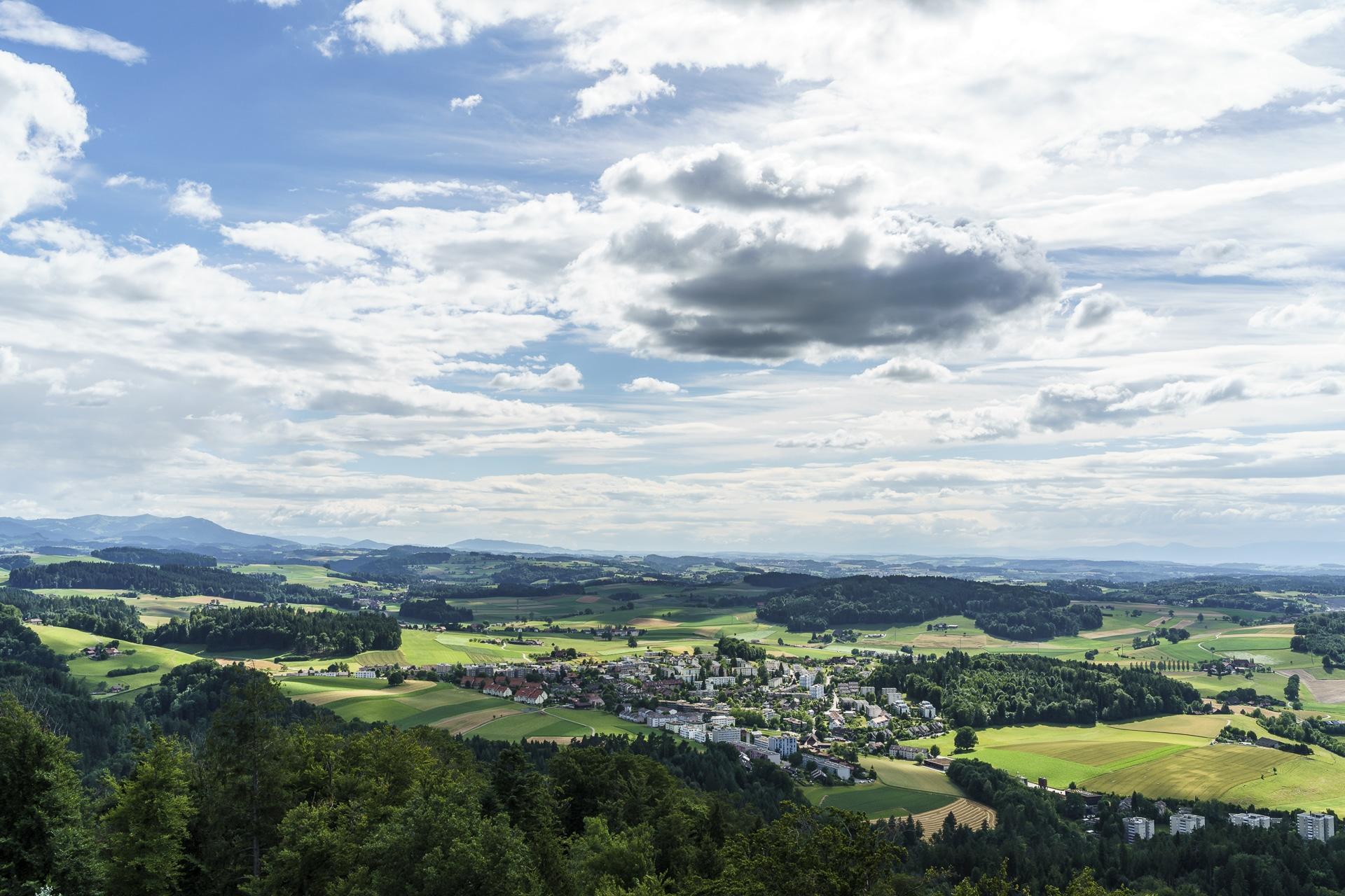 Aussicht Gurtenturm Richtung Fribourg