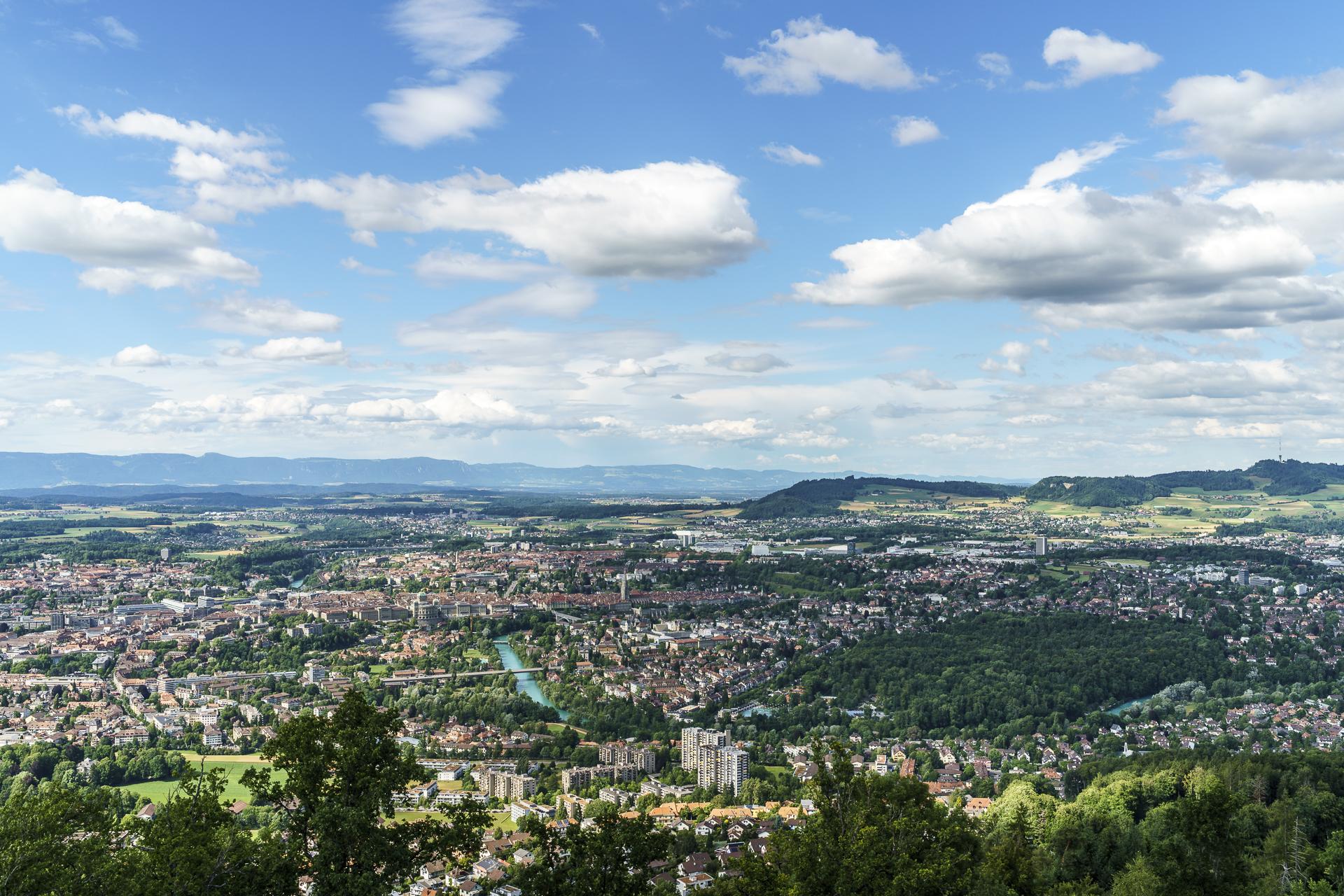 Aussicht Gurtenturm Richtung Bern